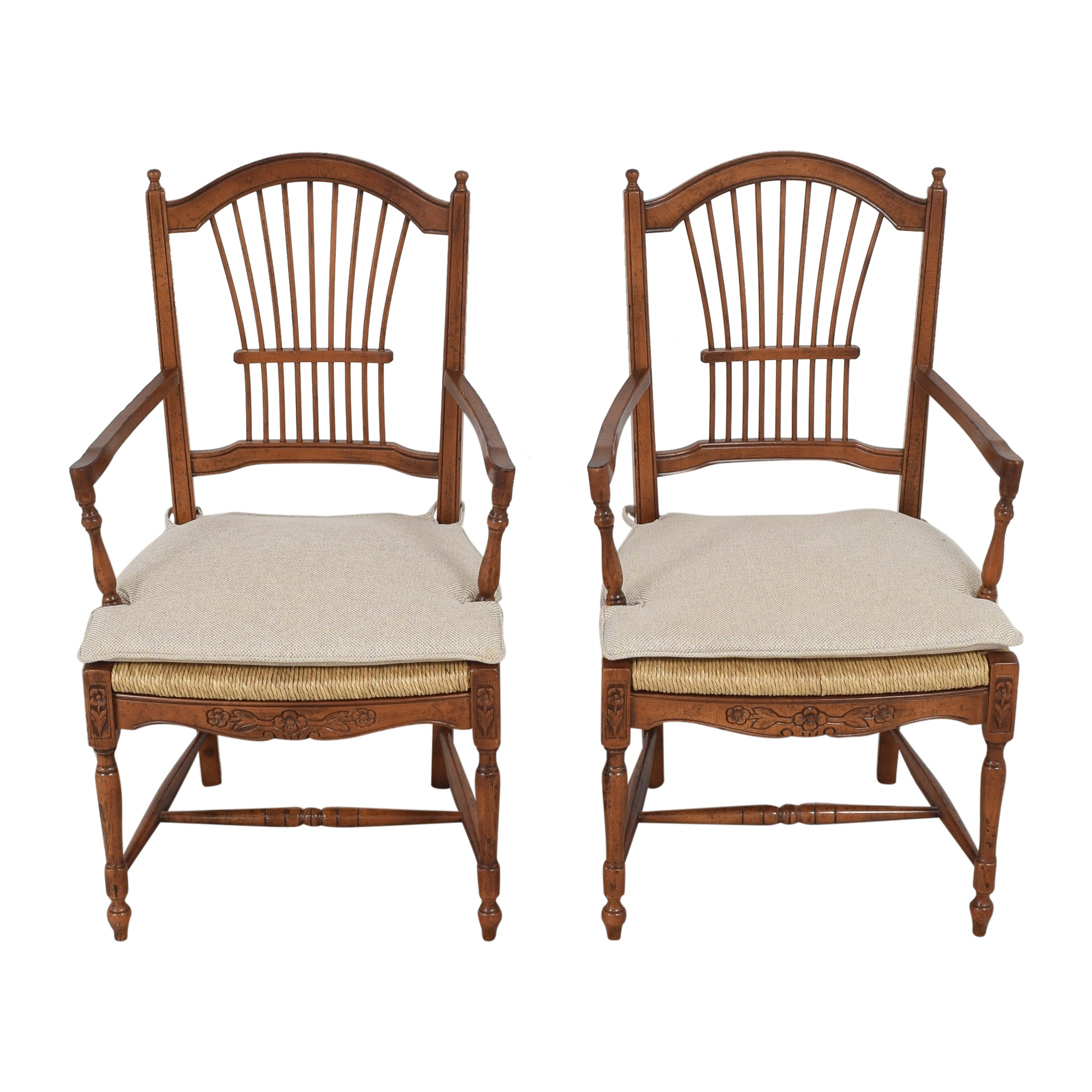 buy Bloomingdale's Wheat Back Dining Arm Chairs Bloomingdale's Dining Chairs