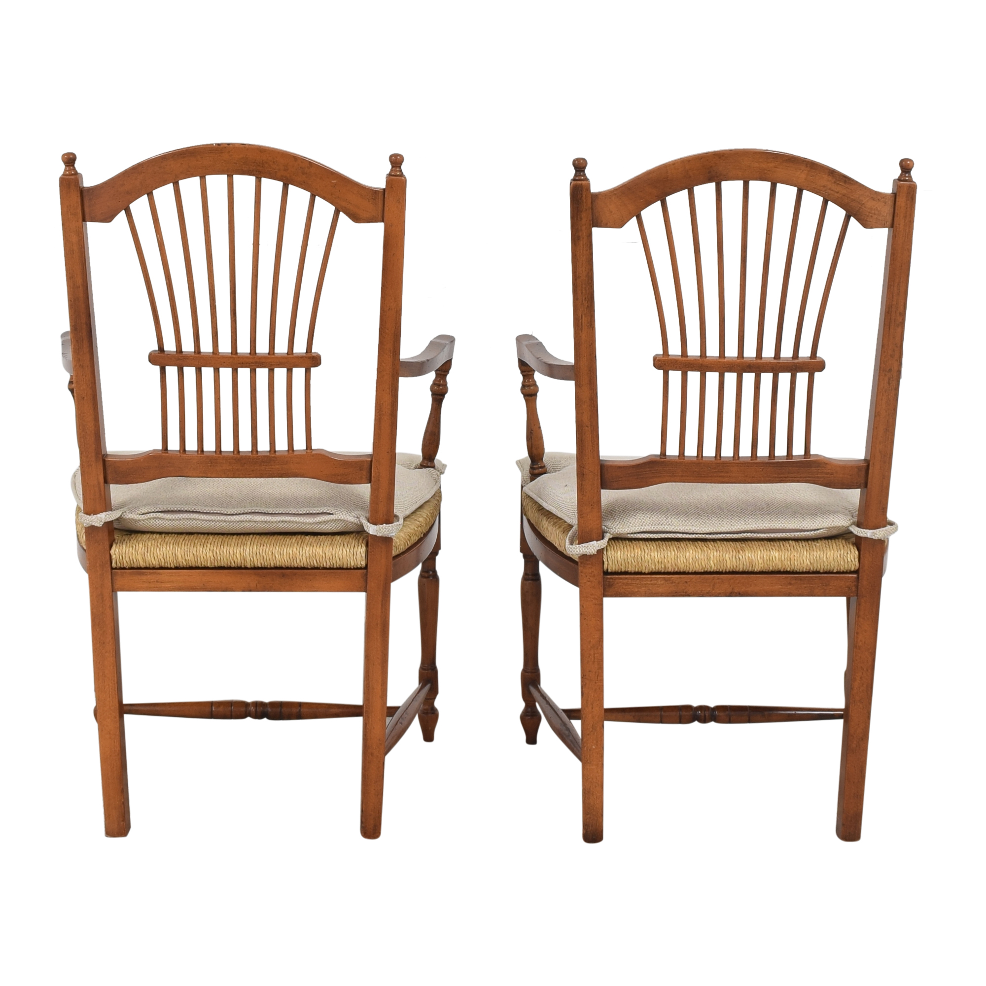 buy Bloomingdale's Wheat Back Dining Arm Chairs Bloomingdale's Chairs