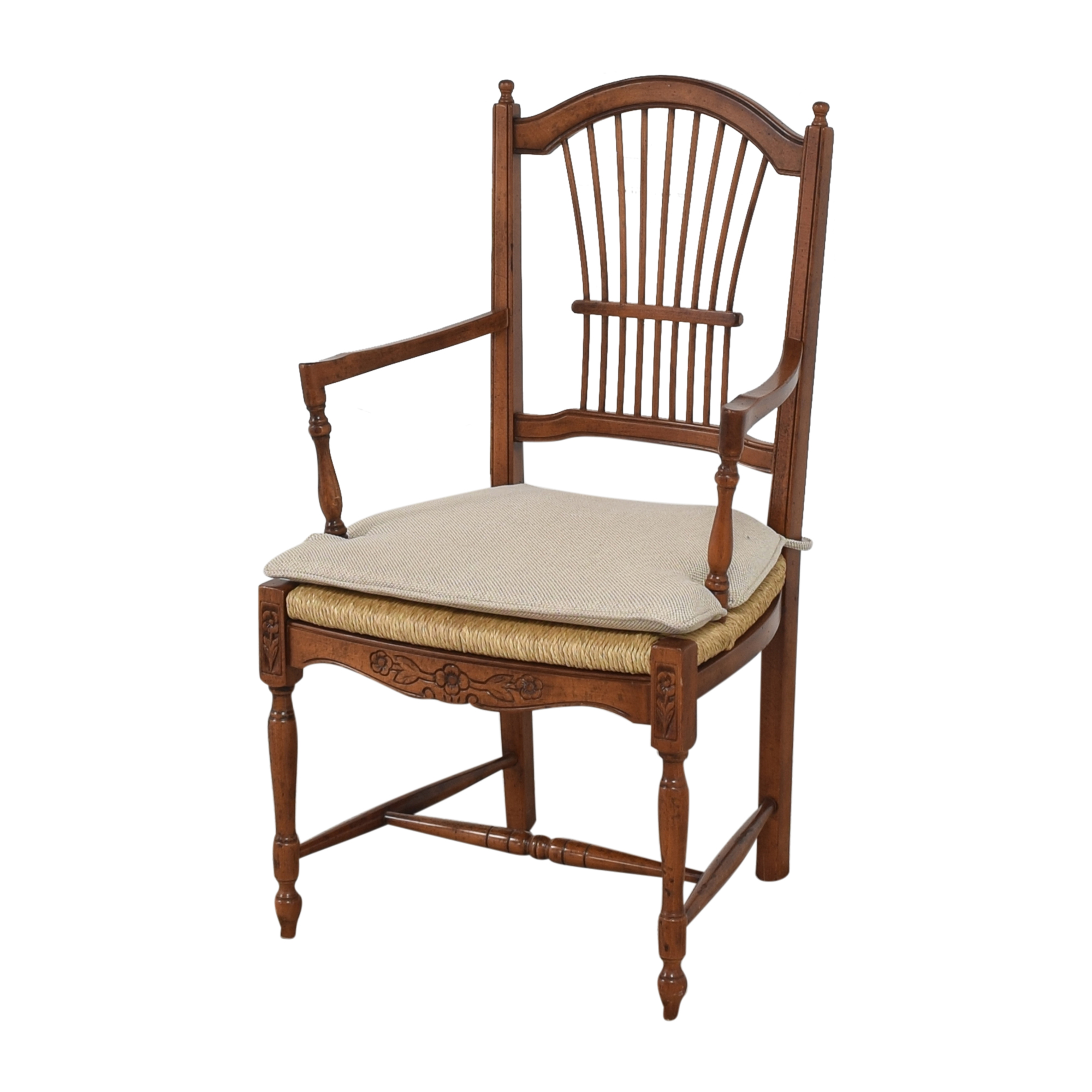 Bloomingdale's Bloomingdale's Wheat Back Dining Arm Chairs ma