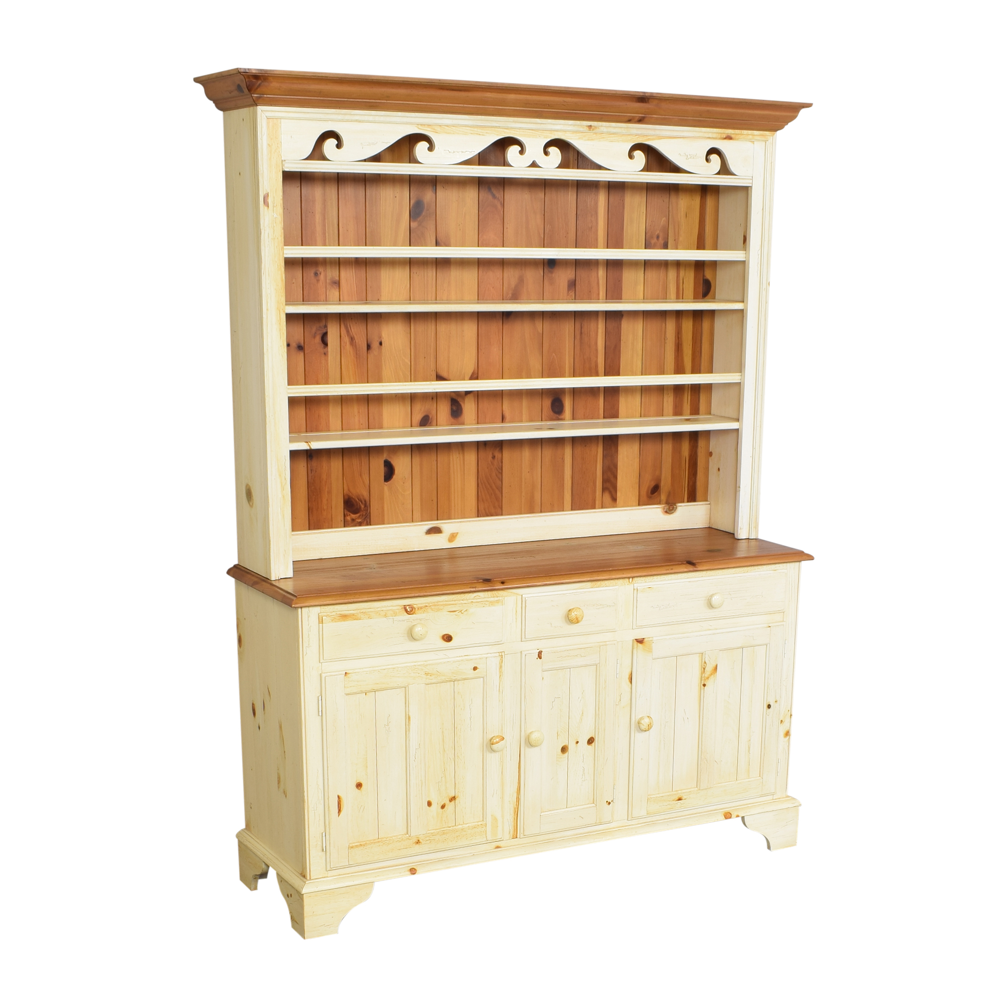 Ethan Allen Ethan Allen Farmhouse Cabinet with Hutch coupon
