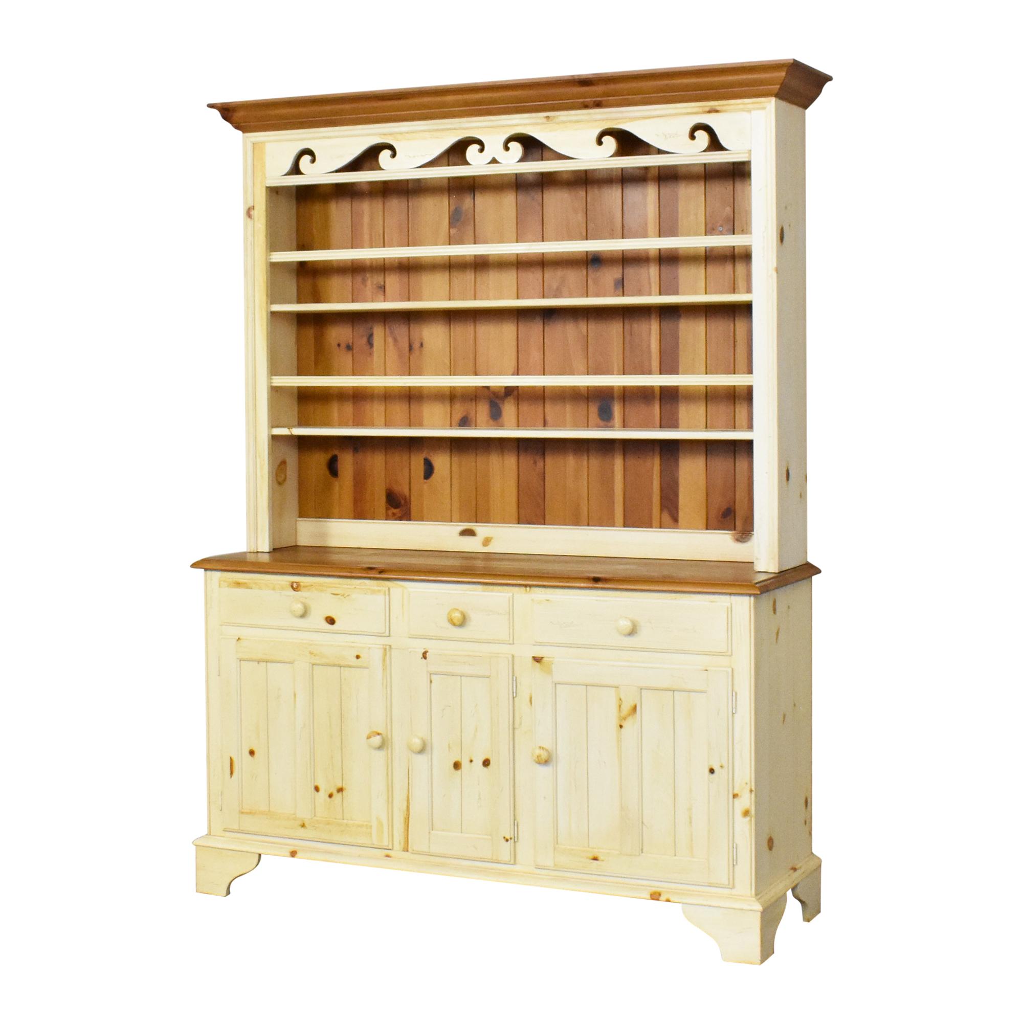 Ethan Allen Ethan Allen Farmhouse Cabinet with Hutch dimensions