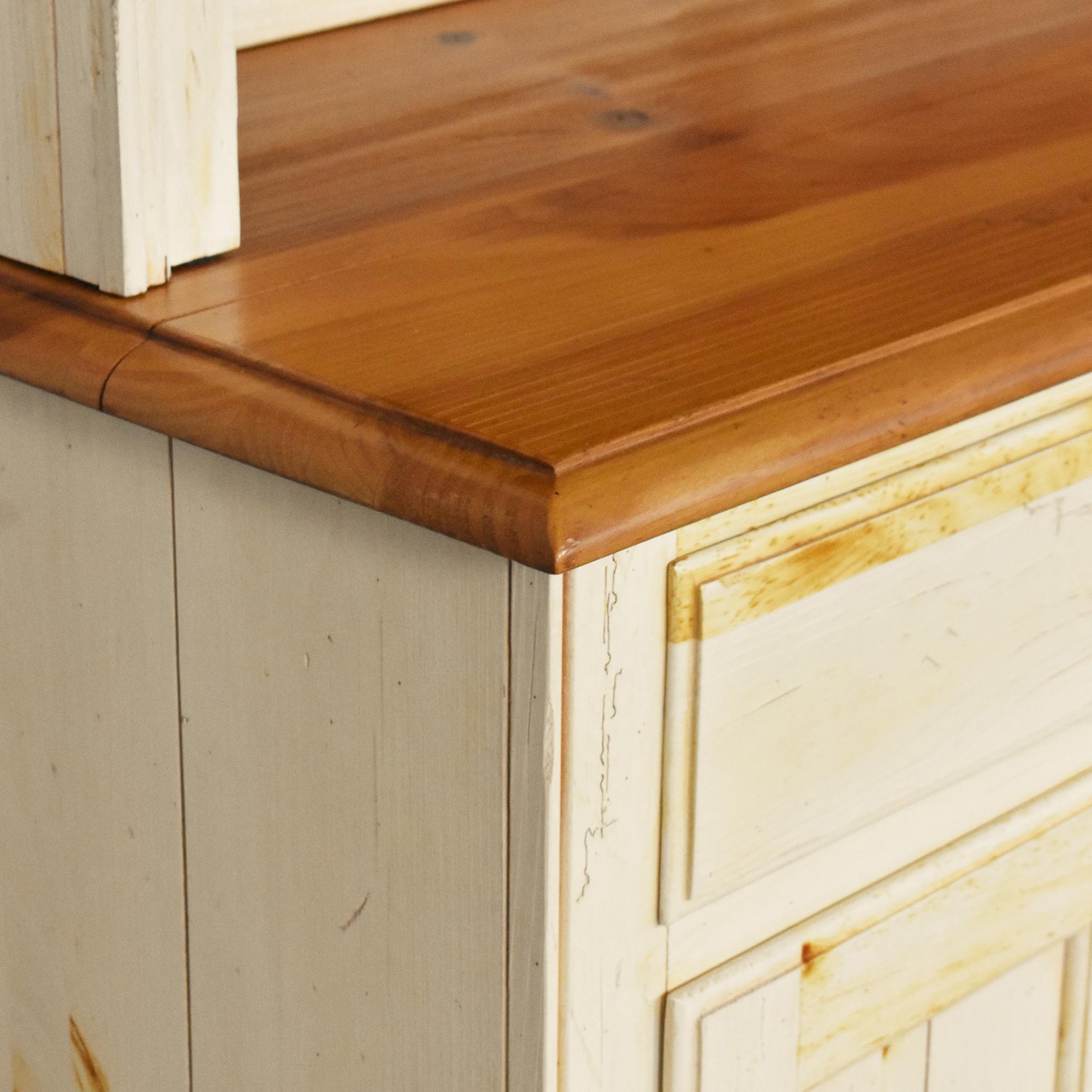 Ethan Allen Ethan Allen Farmhouse Cabinet with Hutch on sale