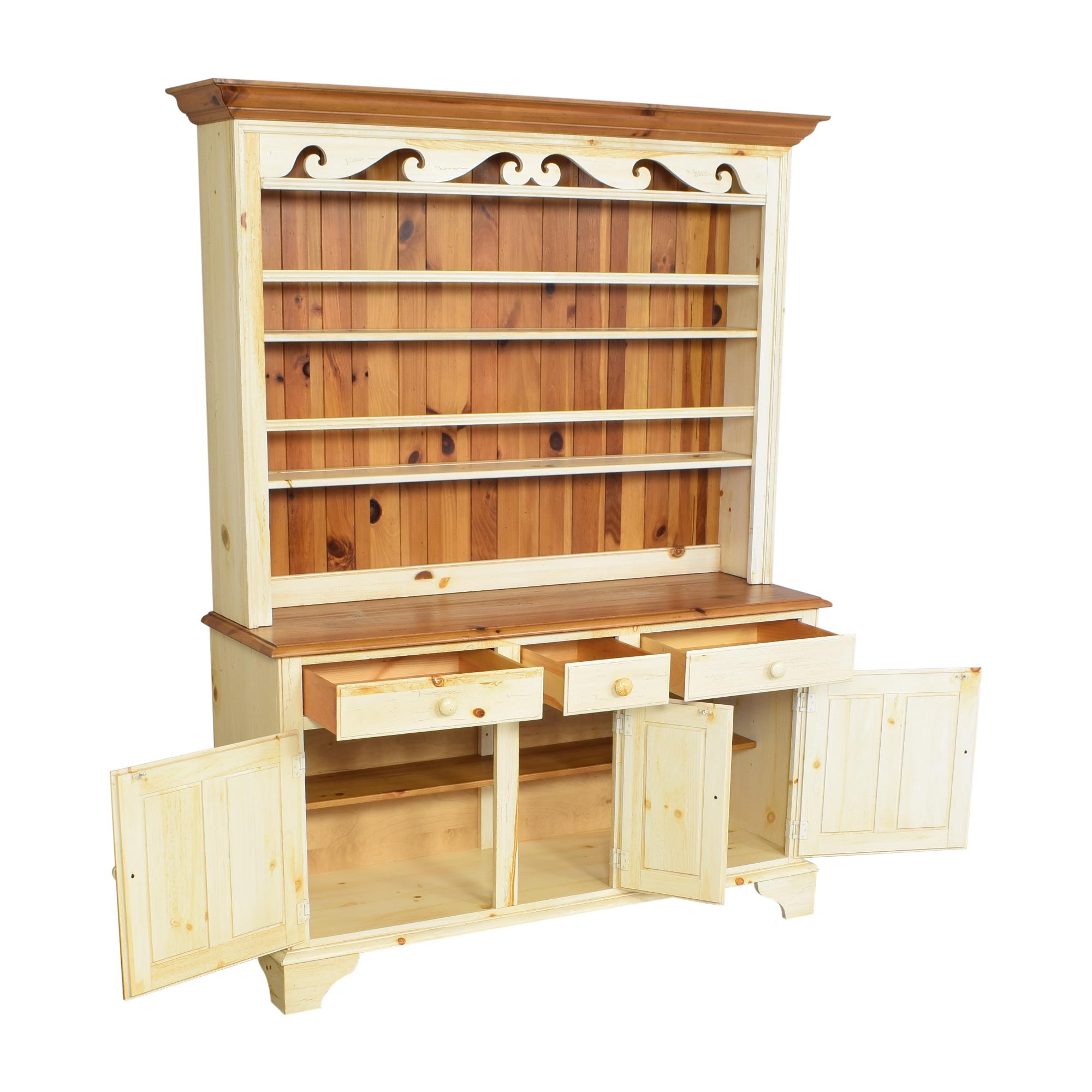Ethan Allen Ethan Allen Farmhouse Cabinet with Hutch ct