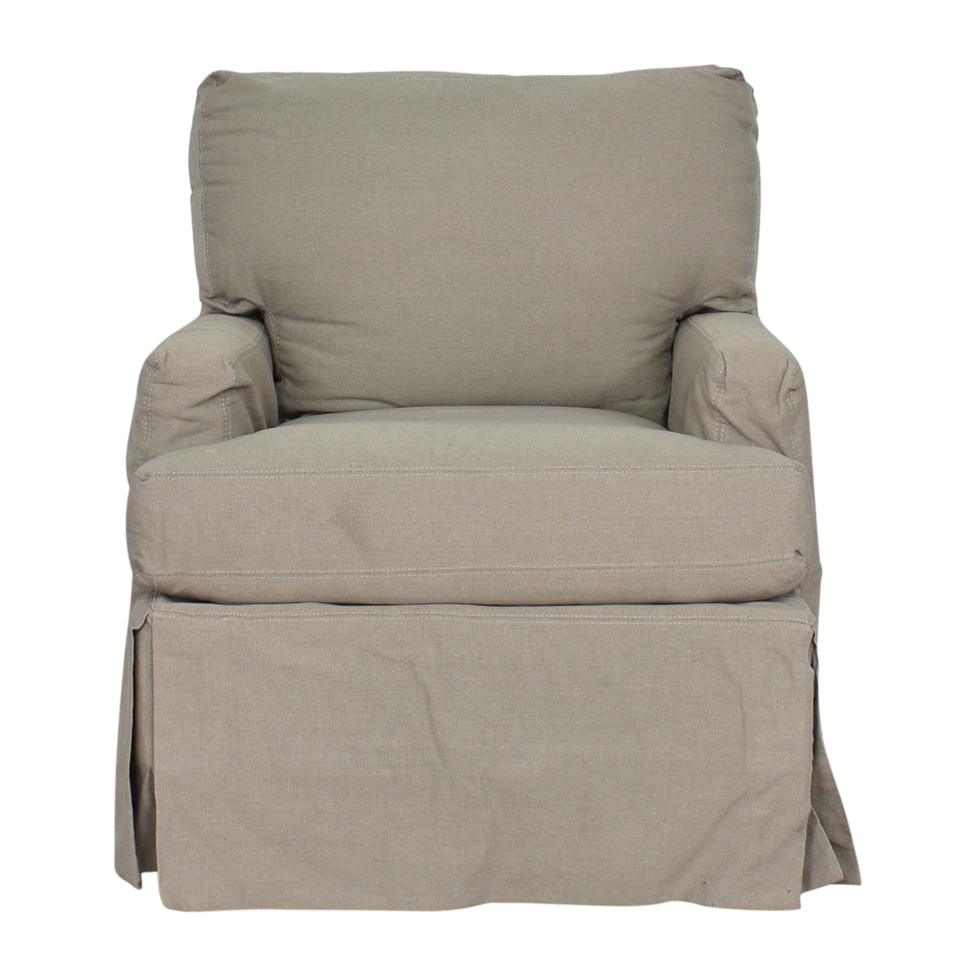 shop Crate & Barrel Hathaway Slipcovered Chair Crate & Barrel