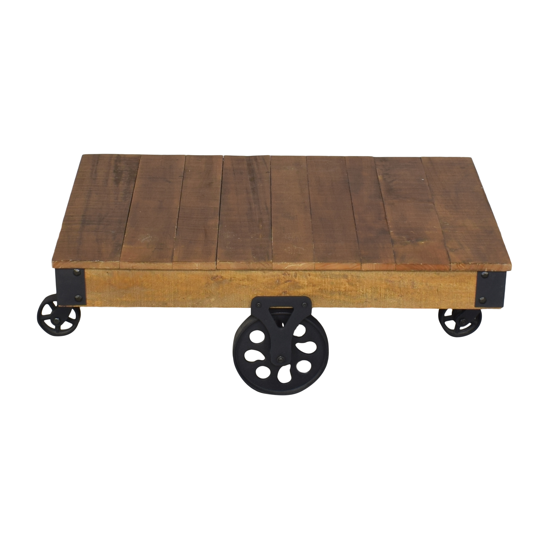 Industrial Coffee Table brown & black