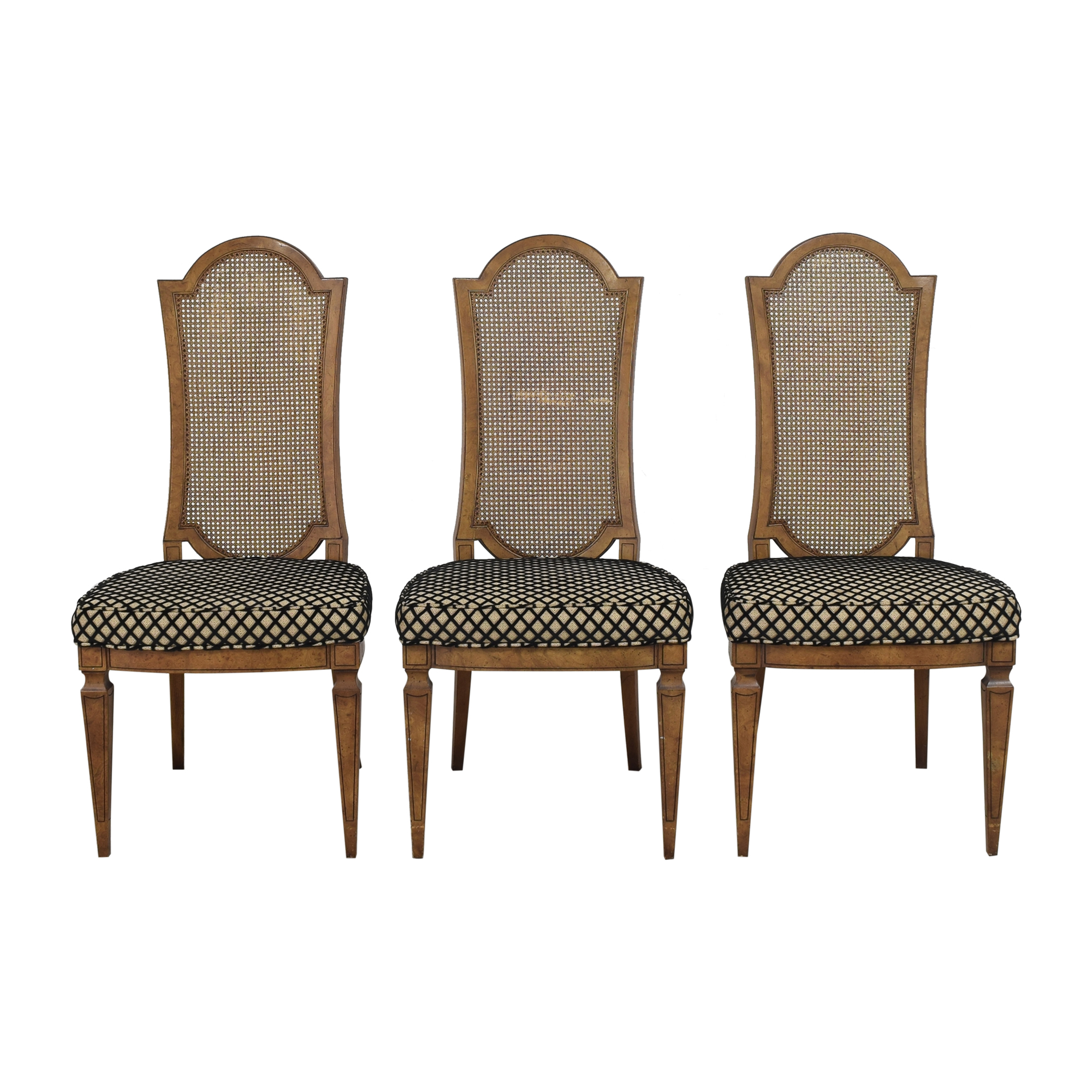 Mastercraft Furniture Mastercraft High Back Dining Chairs second hand