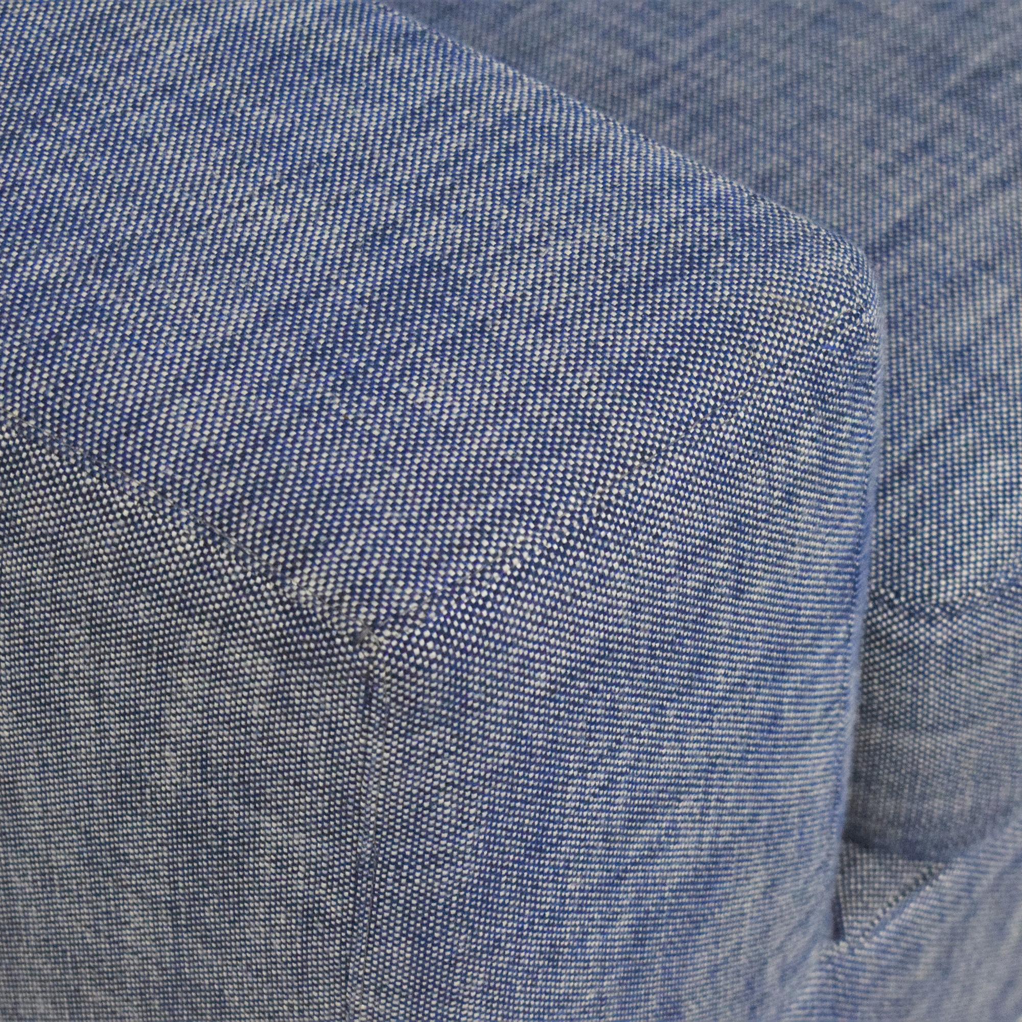 Restoration Hardware Modena Track Arm Bench-Seat Sofa sale