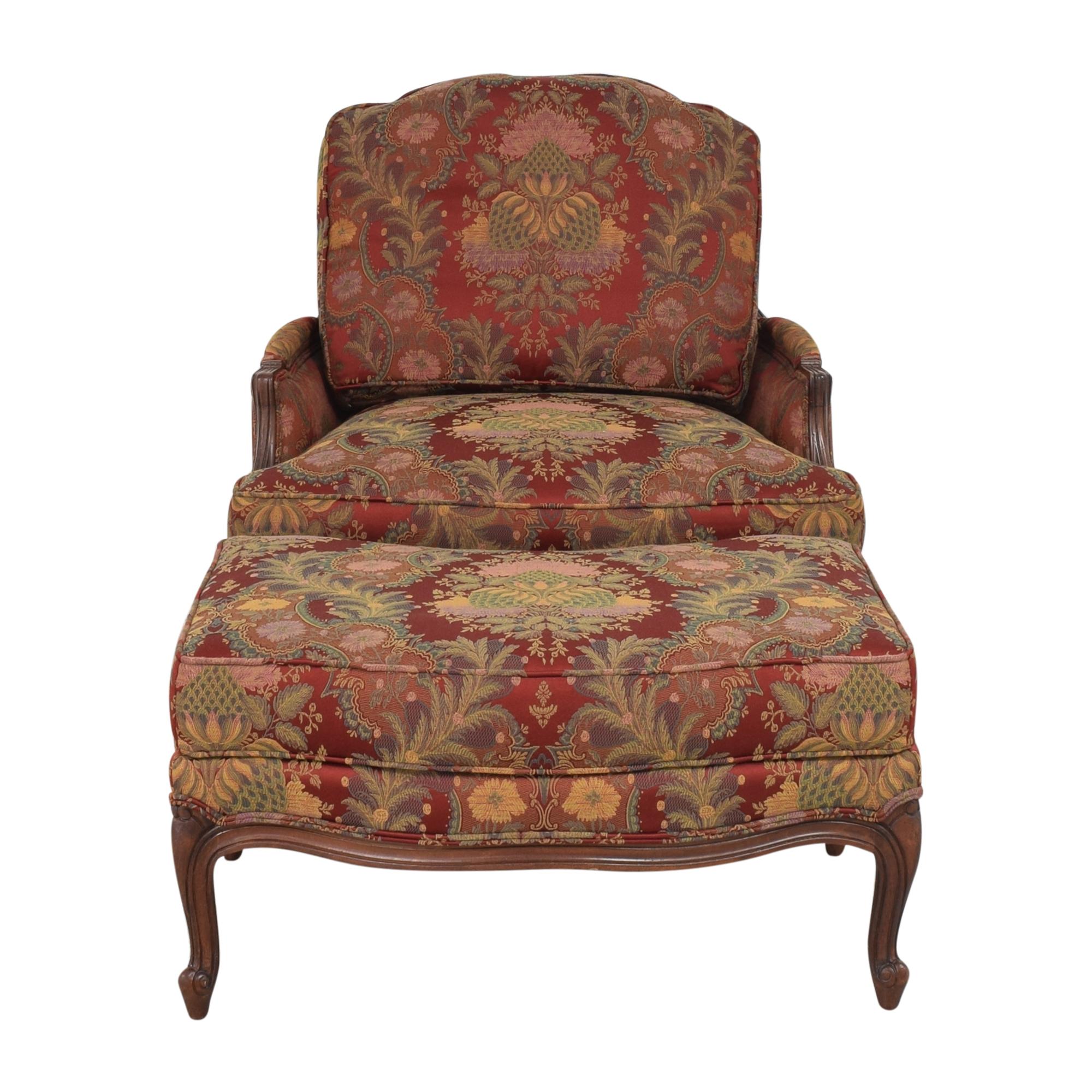 buy Ethan Allen Versailles Chair with Ottoman Ethan Allen Chairs