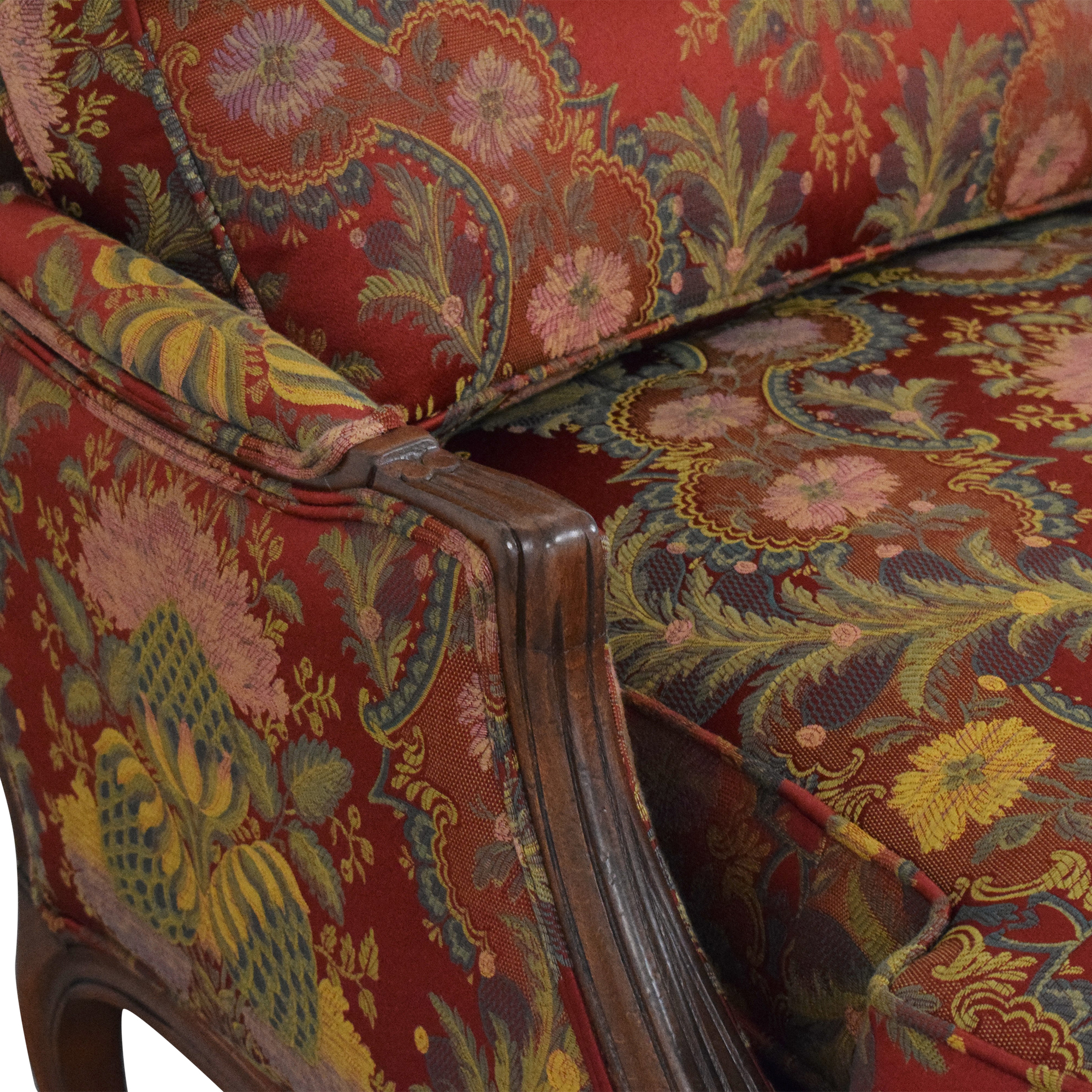 shop Ethan Allen Versailles Chair with Ottoman Ethan Allen Accent Chairs