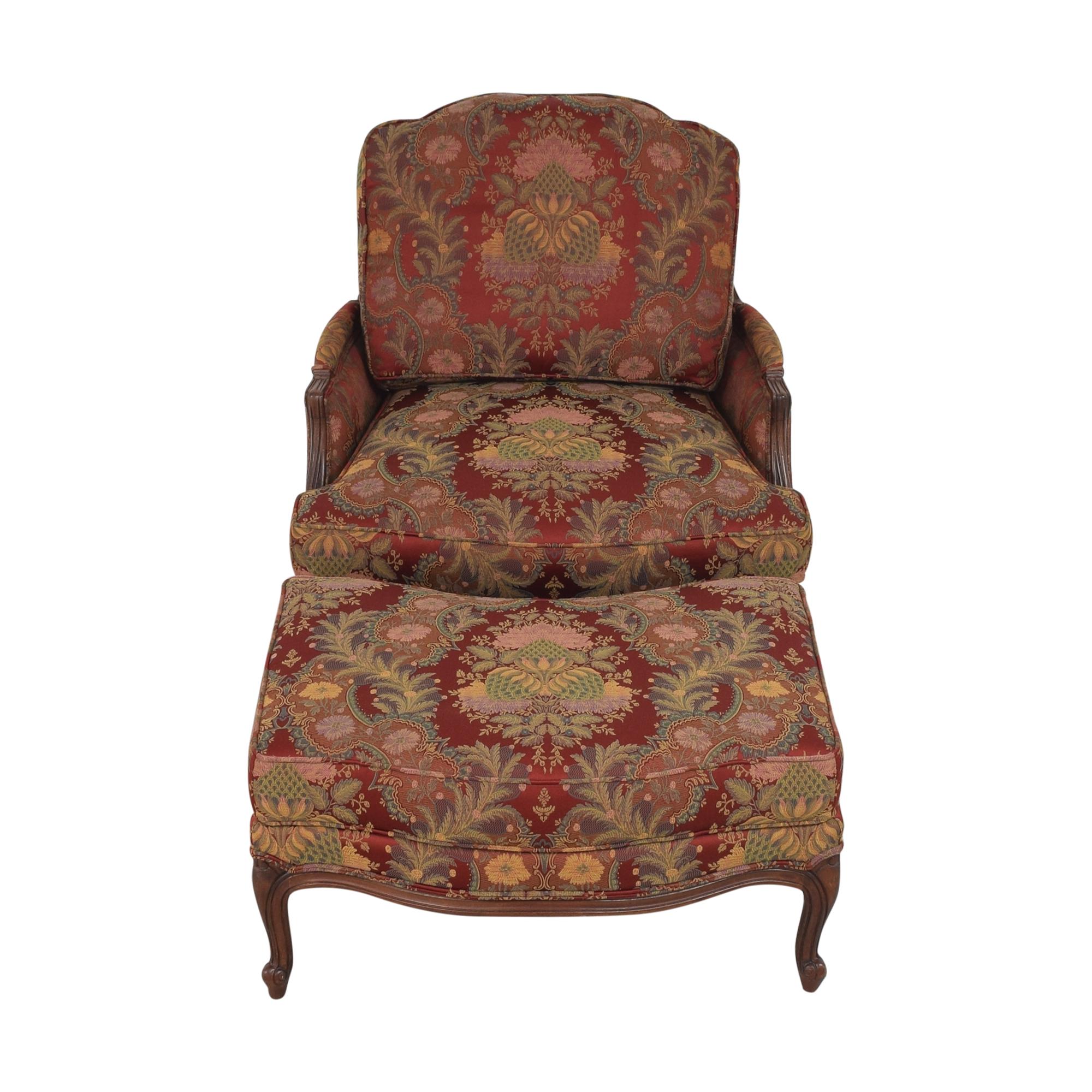 Ethan Allen Ethan Allen Versailles Chair with Ottoman discount