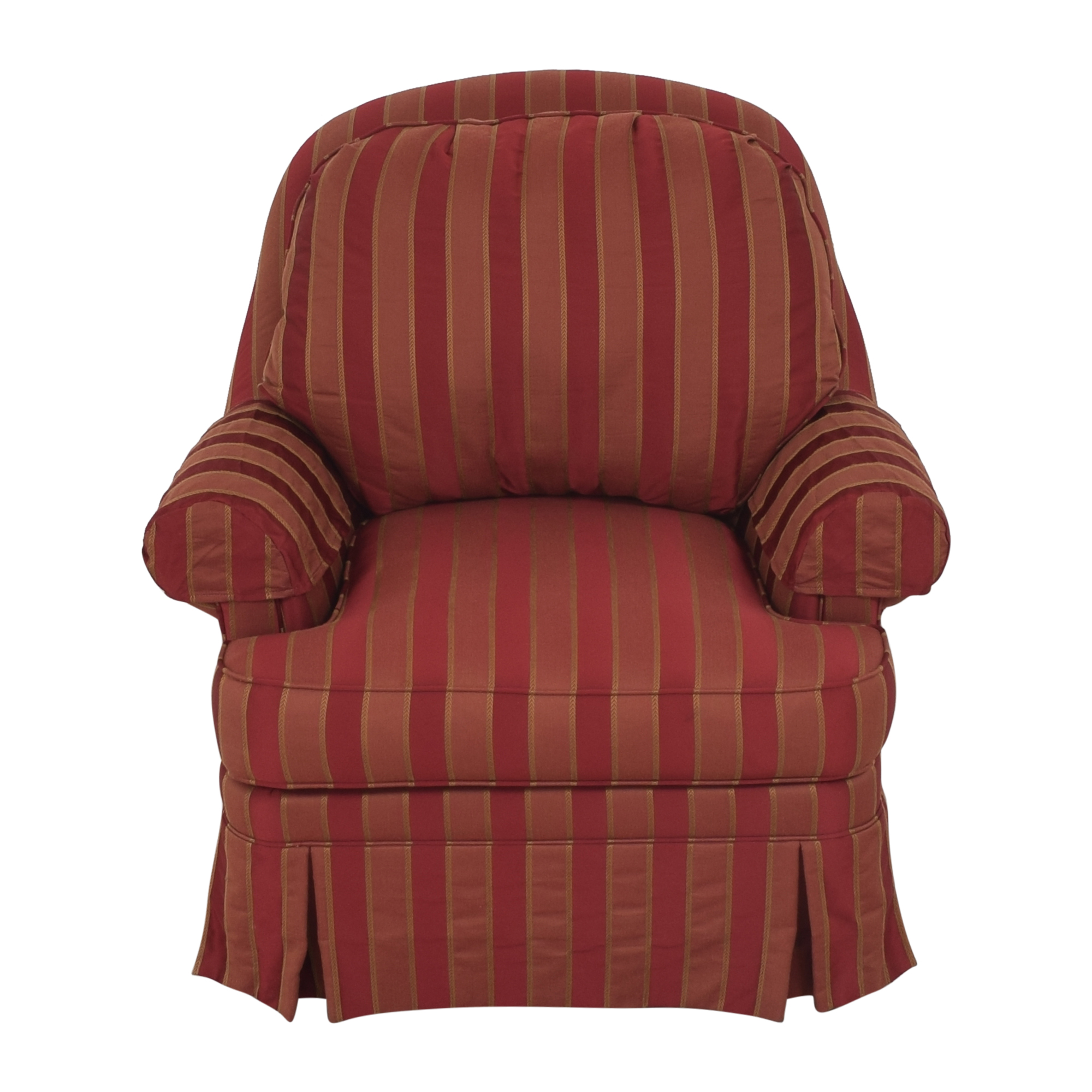 Ethan Allen Ethan Allen Skirted Swivel Chair red