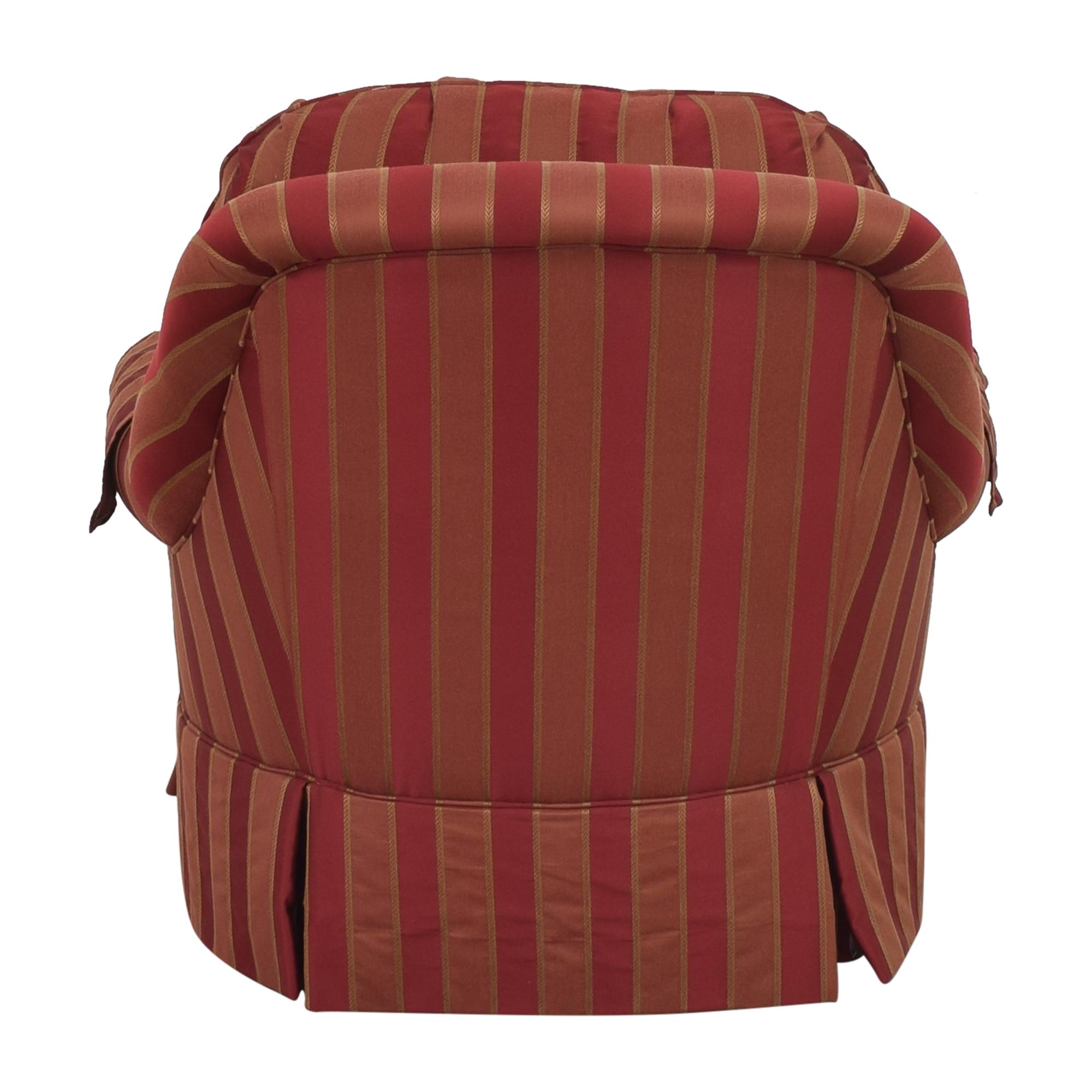 Ethan Allen Ethan Allen Skirted Swivel Chair ct