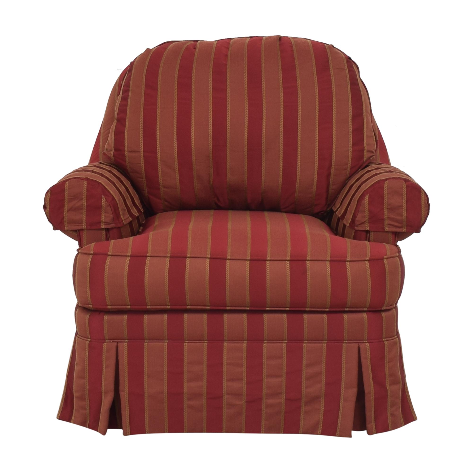 shop Ethan Allen Skirted Swivel Chair Ethan Allen Accent Chairs
