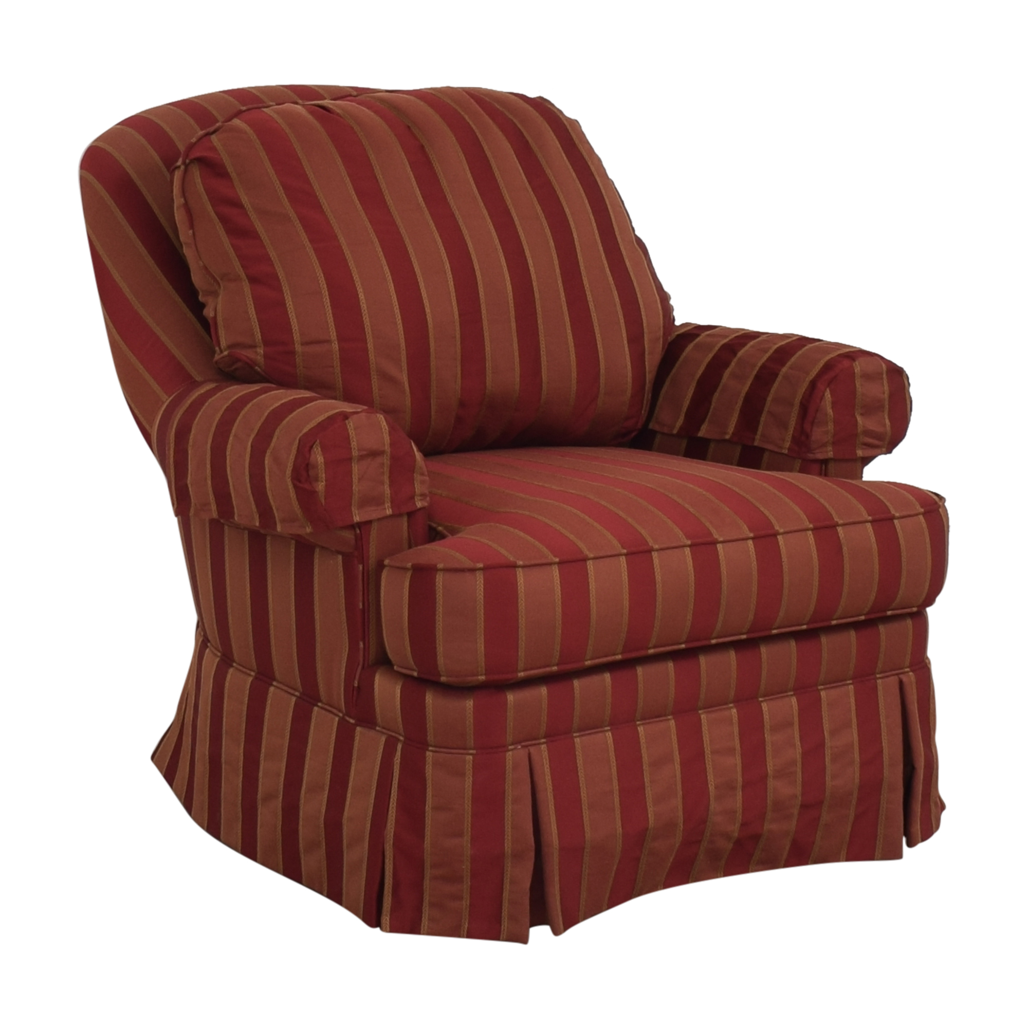 Ethan Allen Skirted Swivel Chair / Chairs