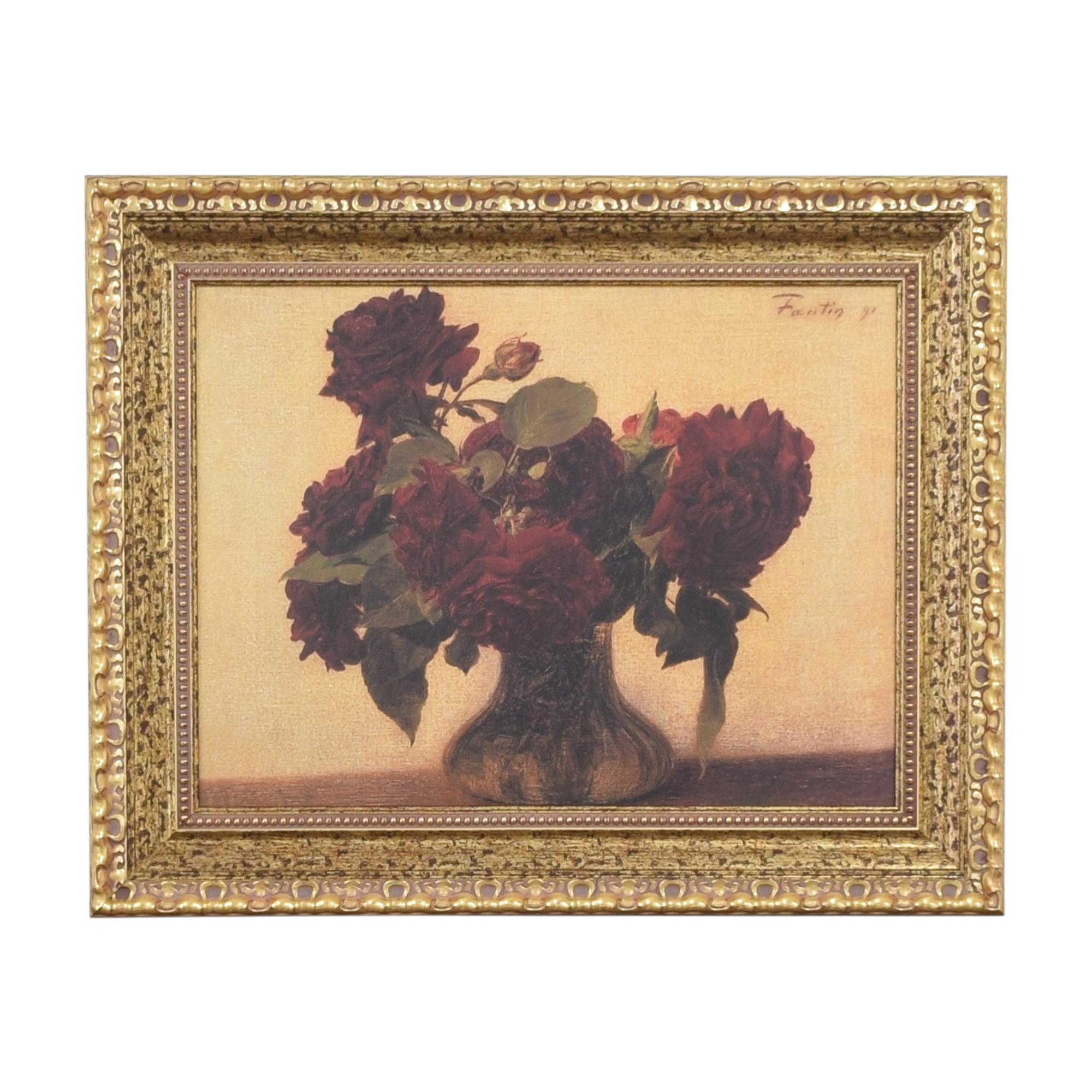 shop Ethan Allen Roses Wall Art Ethan Allen Wall Art