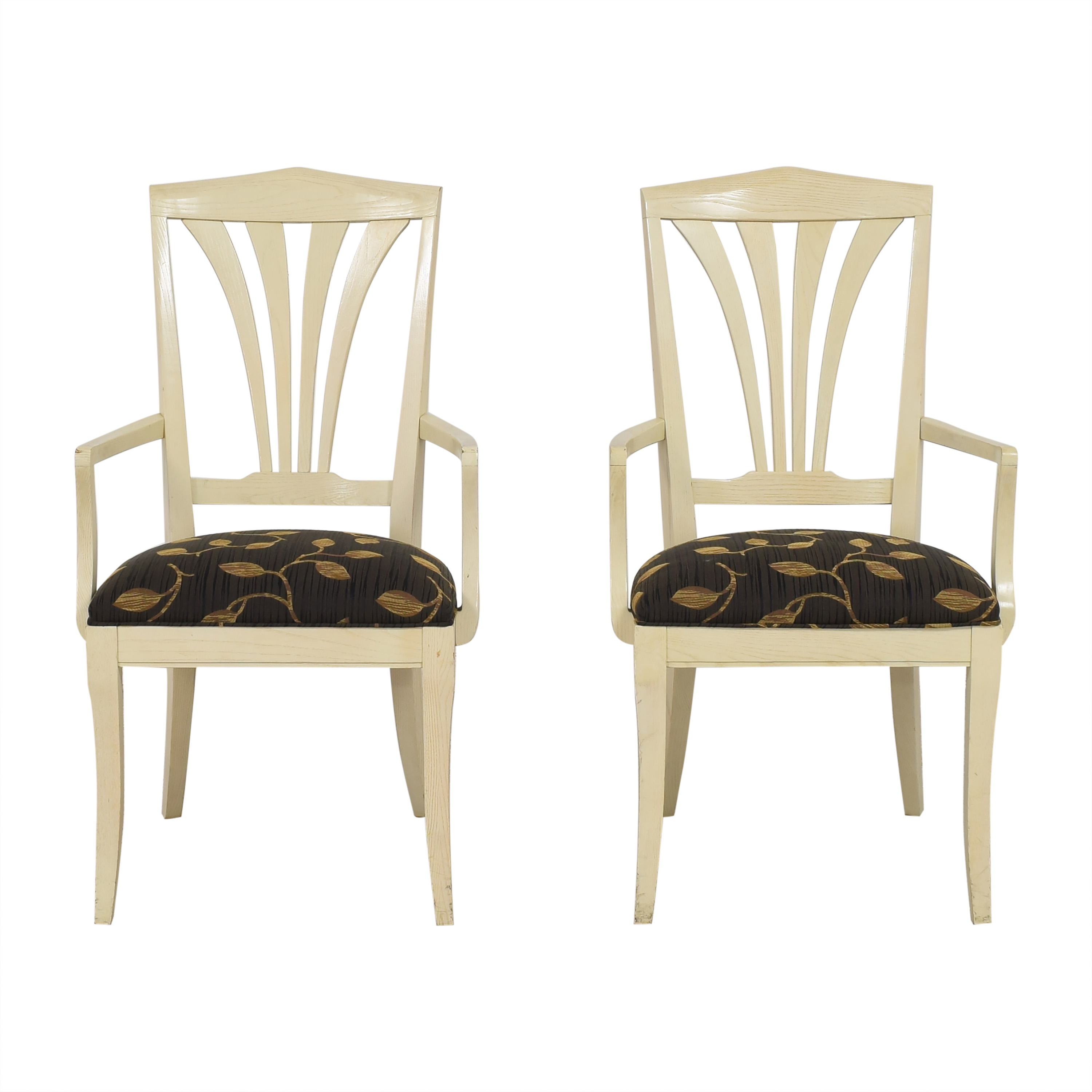 Ethan Allen Ethan Allen Dining Arm Chairs dimensions