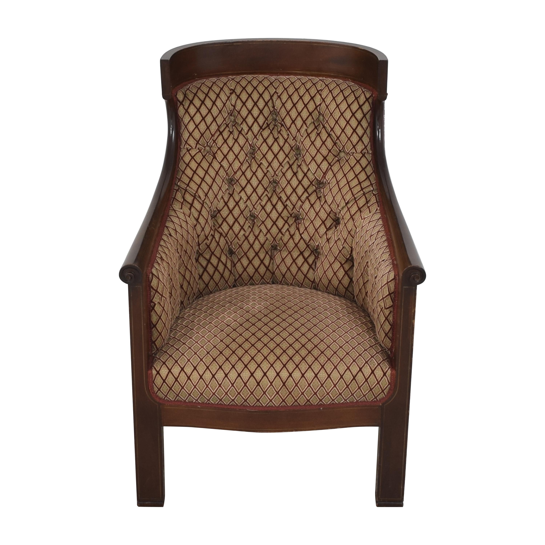 Custom Klismos Tufted Arm Chair pa