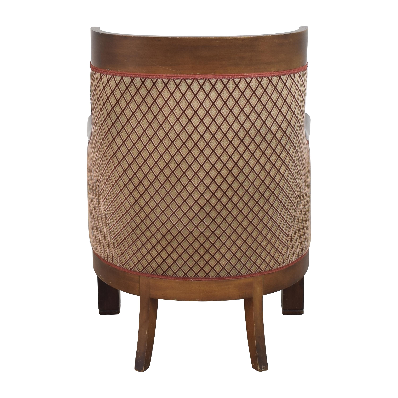 buy  Custom Klismos Tufted Arm Chair online
