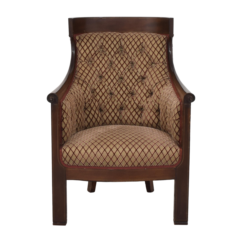 Custom Klismos Tufted Arm Chair nj