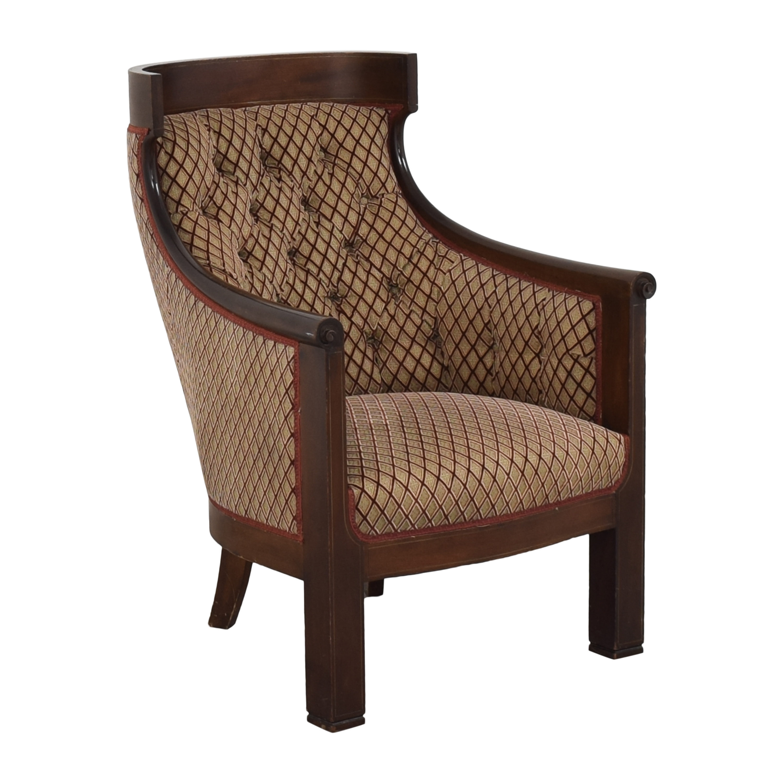 Custom Klismos Tufted Arm Chair sale