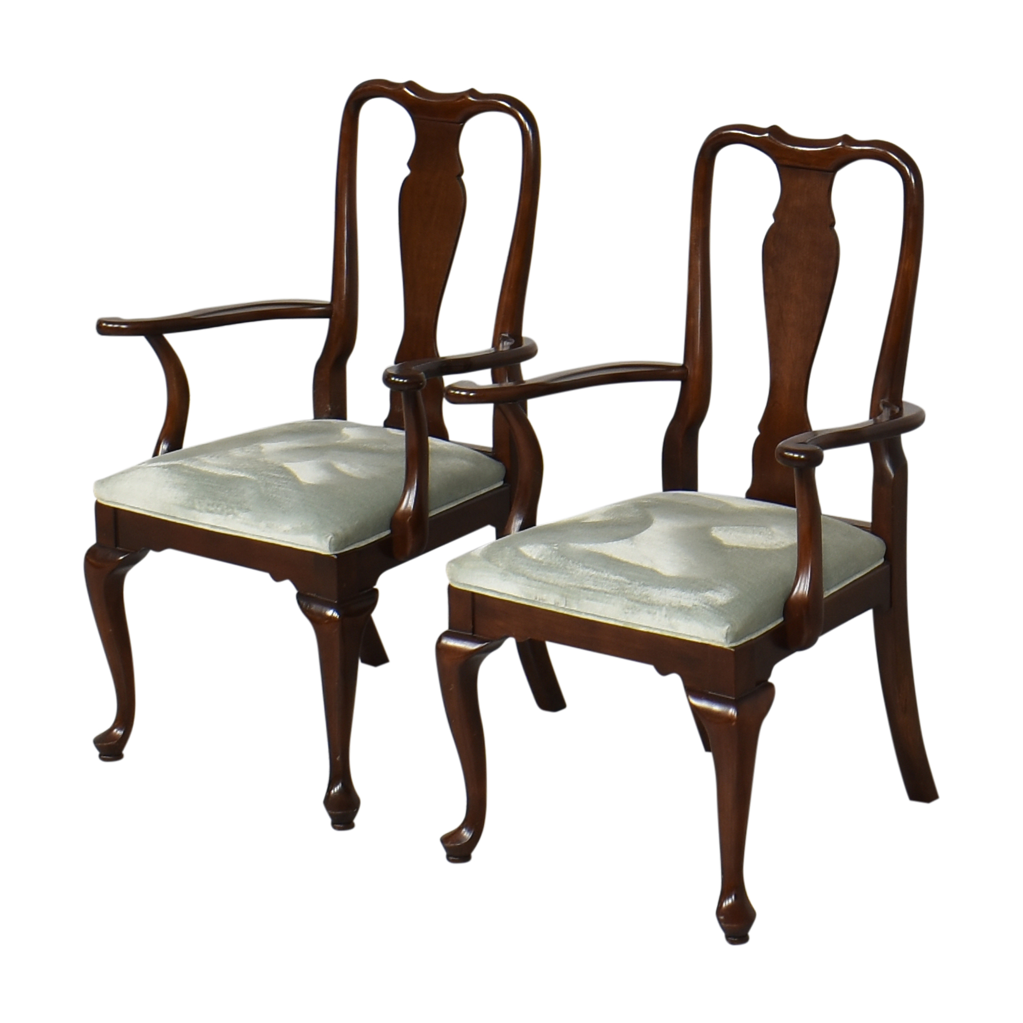 Ethan Allen Georgian Court Dining Arm Chairs sale