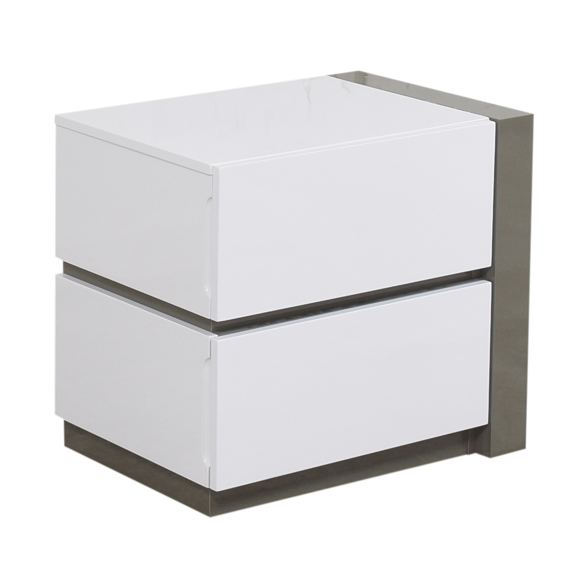 Chintaly Imports Chintaly Imports Manila Right Nightstand gray and white
