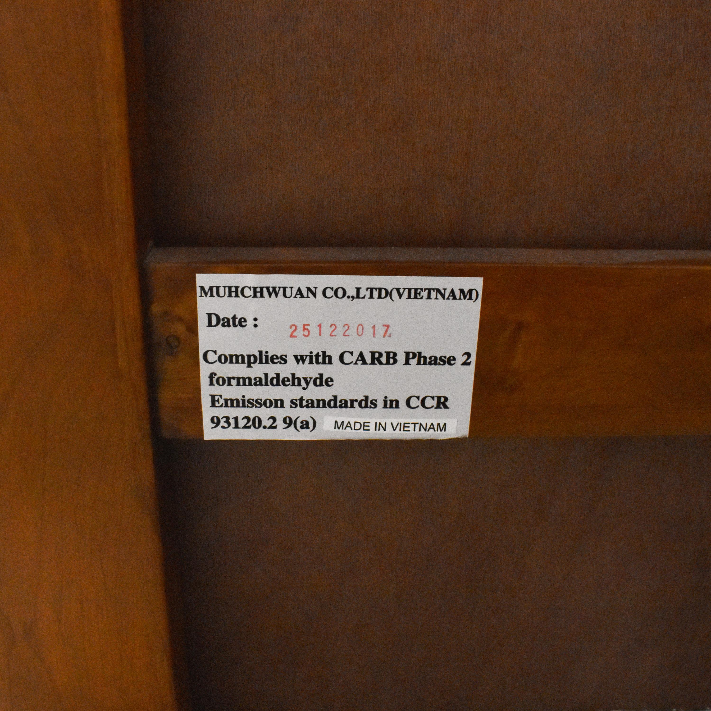 Raymour & Flanigan Raymour & Flanigan Everitt Full Storage Platform Bed brown