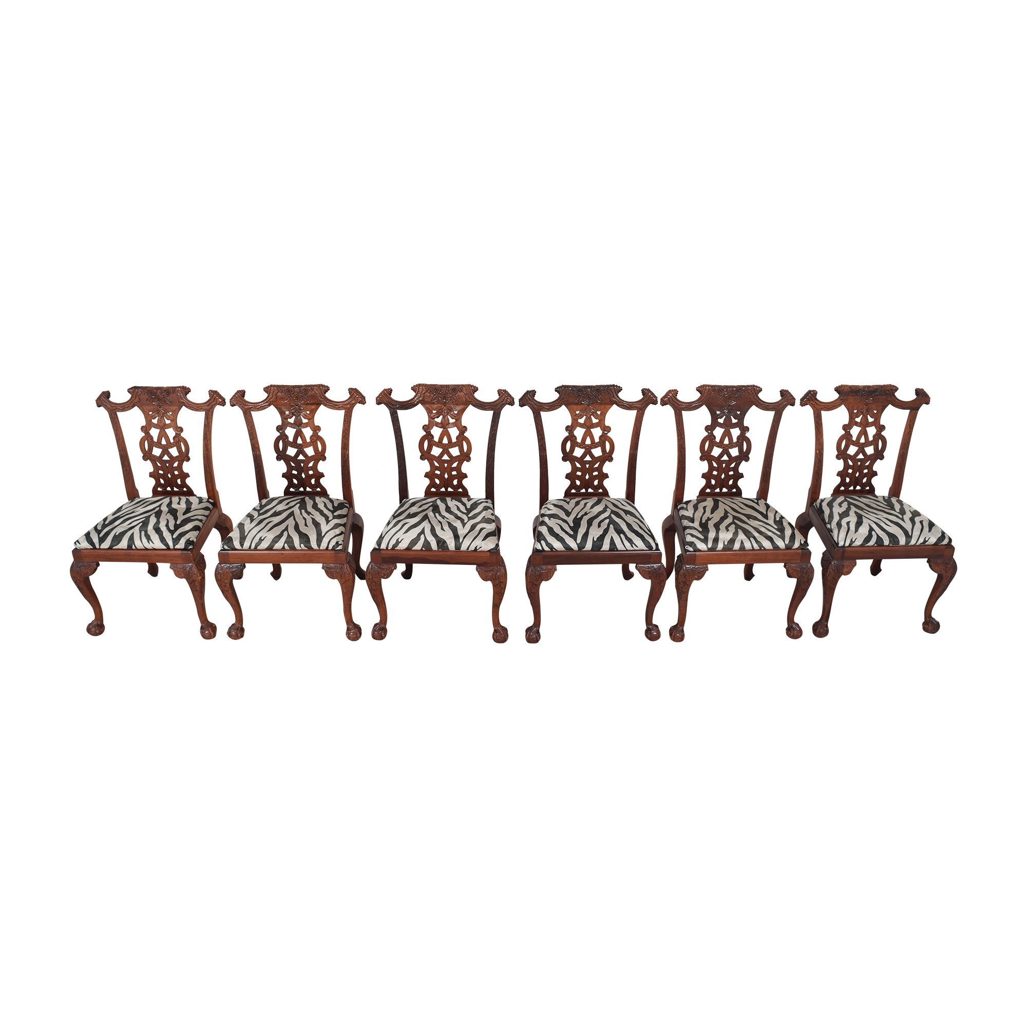 shop Animal Print Upholstered Dining Chairs  Dining Chairs