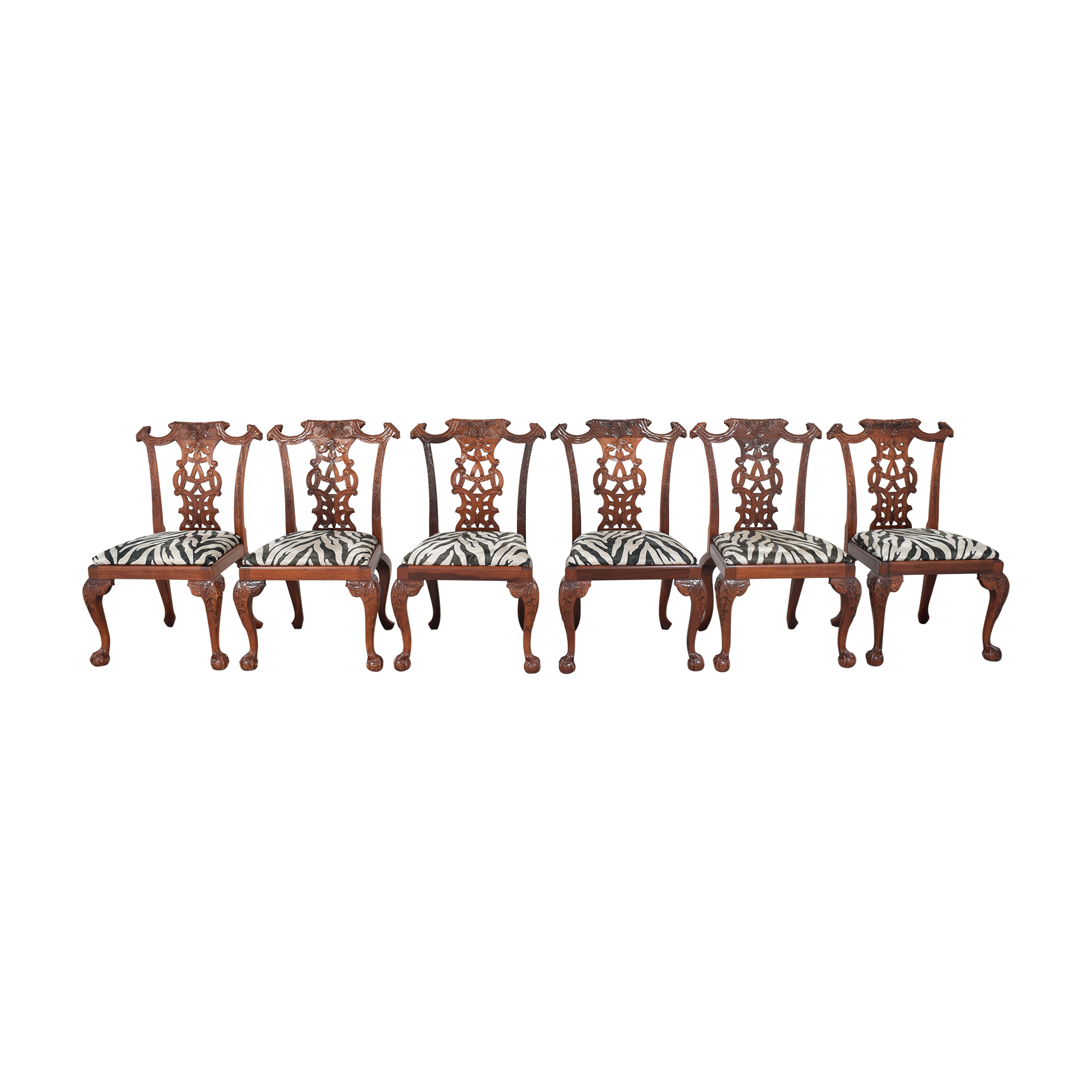 buy Animal Print Upholstered Dining Chairs