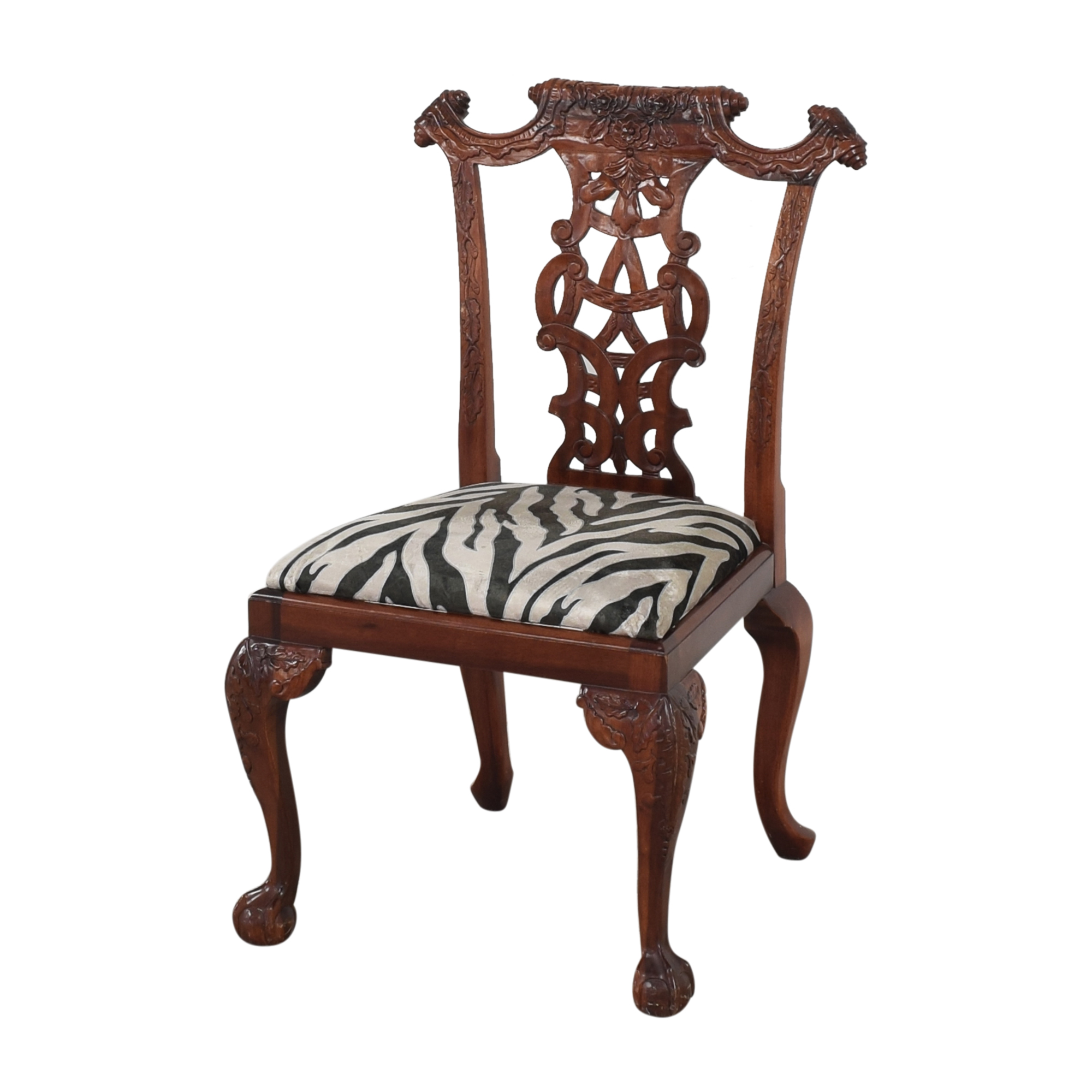 Animal Print Upholstered Dining Chairs nyc