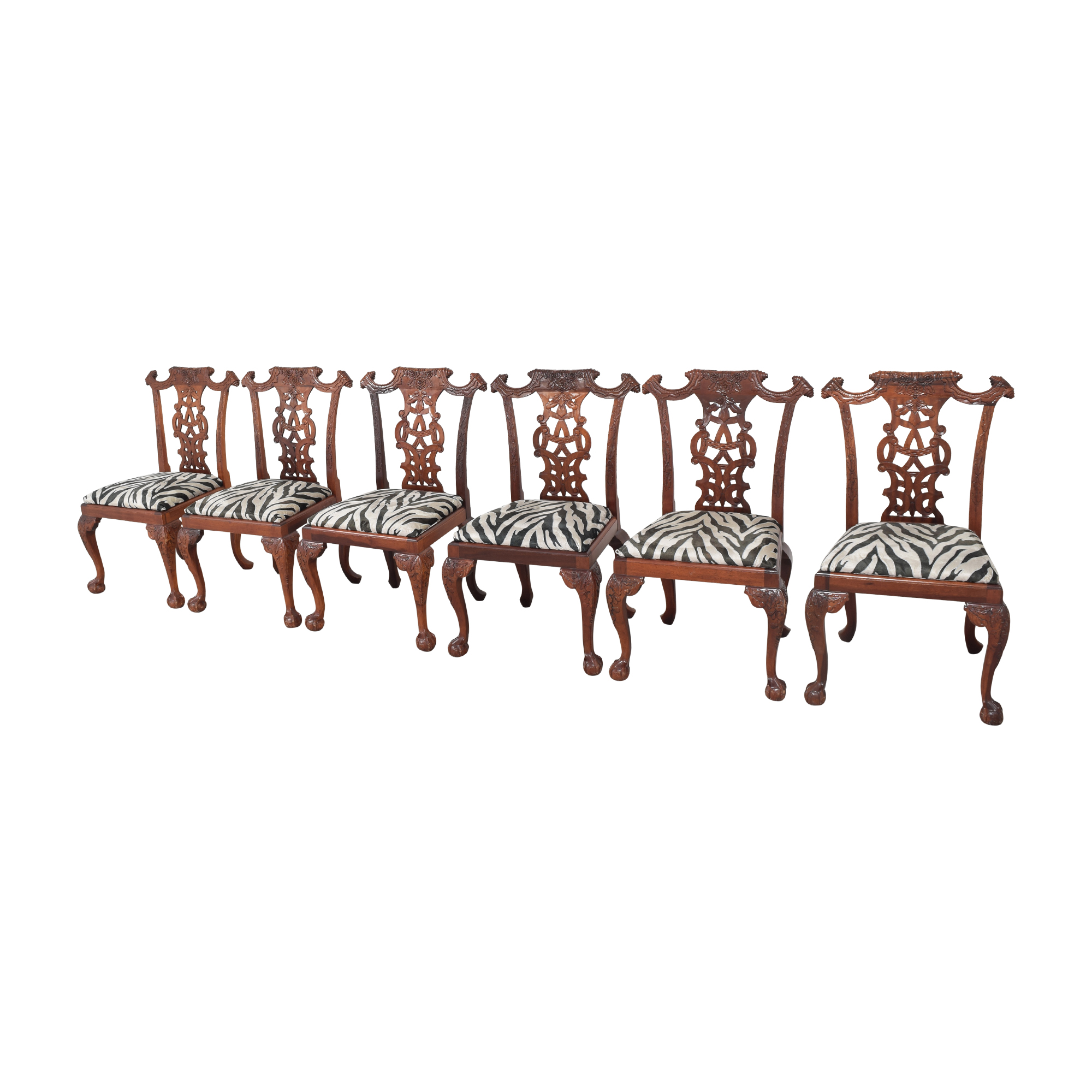 Animal Print Upholstered Dining Chairs price