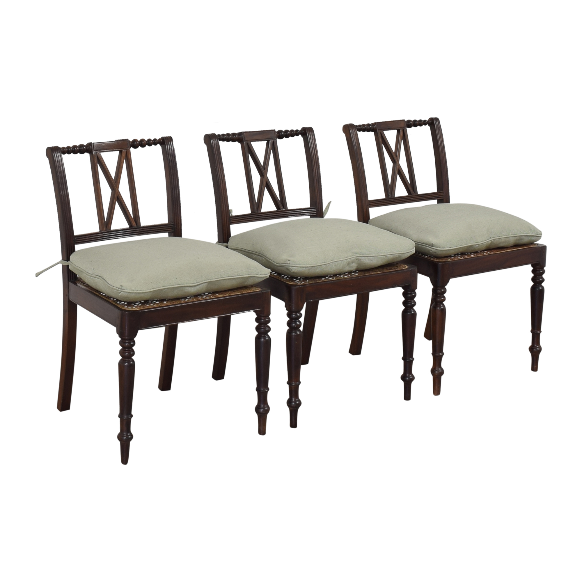 X Back Dining Side Chairs with Cushions nyc