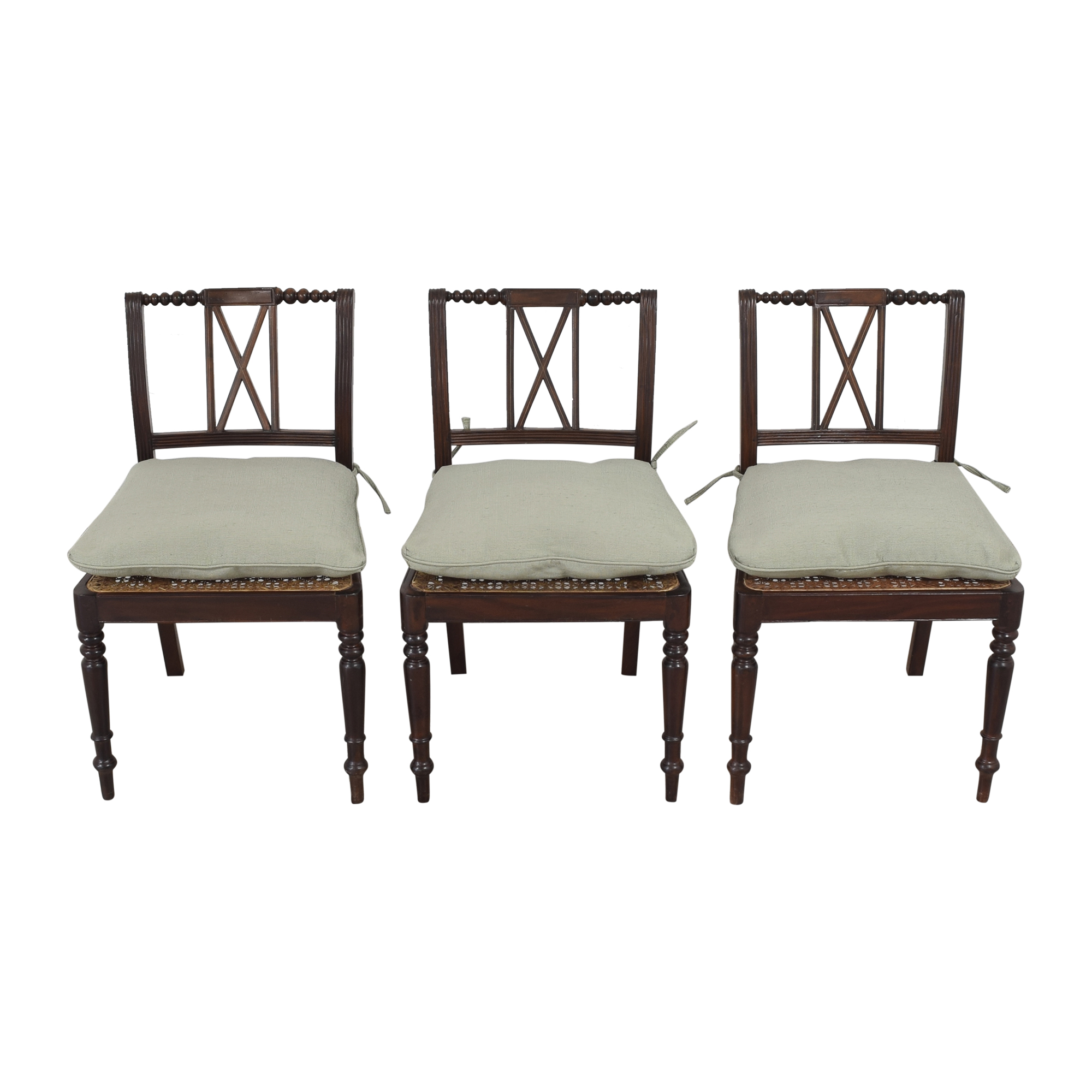 X Back Dining Side Chairs with Cushions / Chairs
