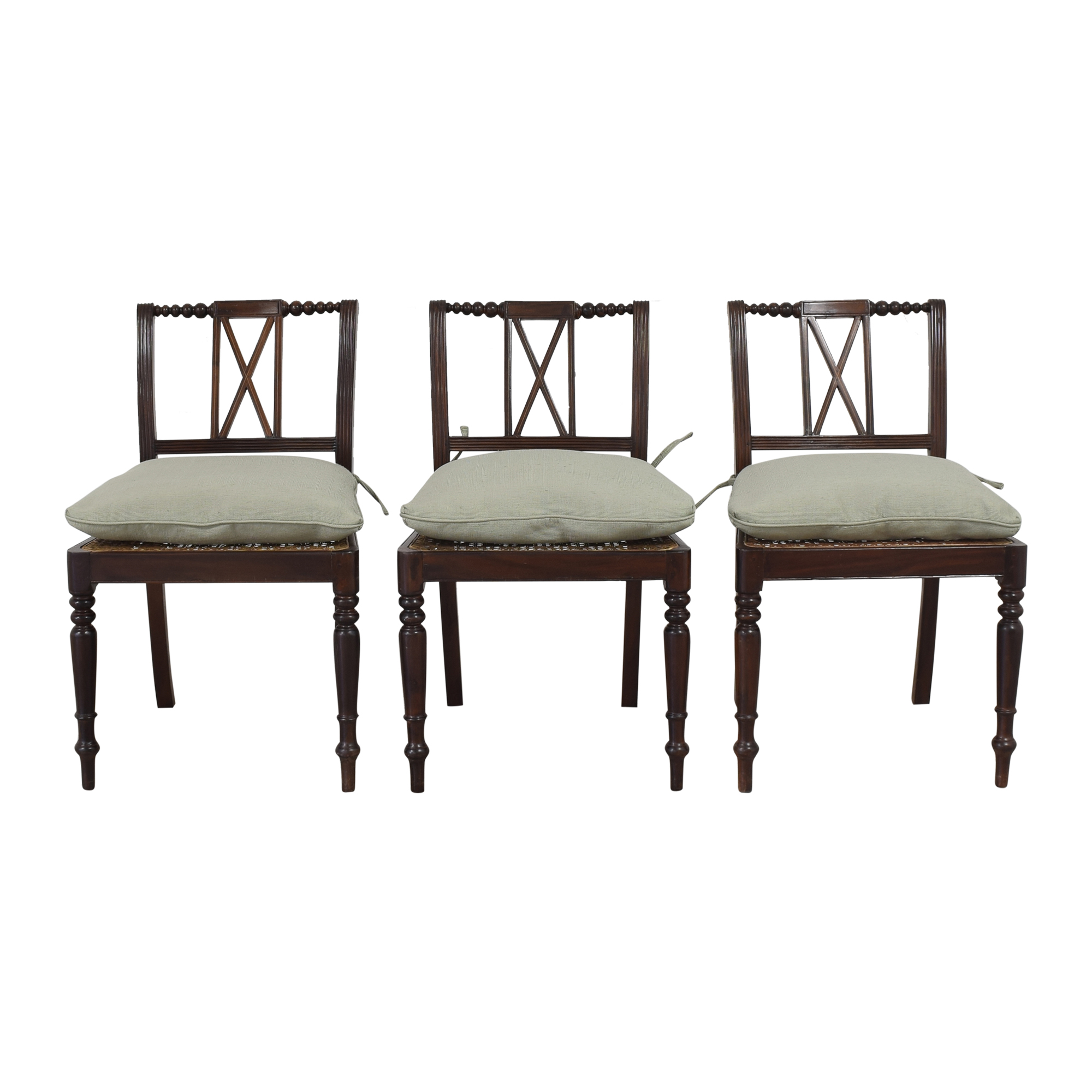 X Back Dining Side Chairs with Cushions second hand