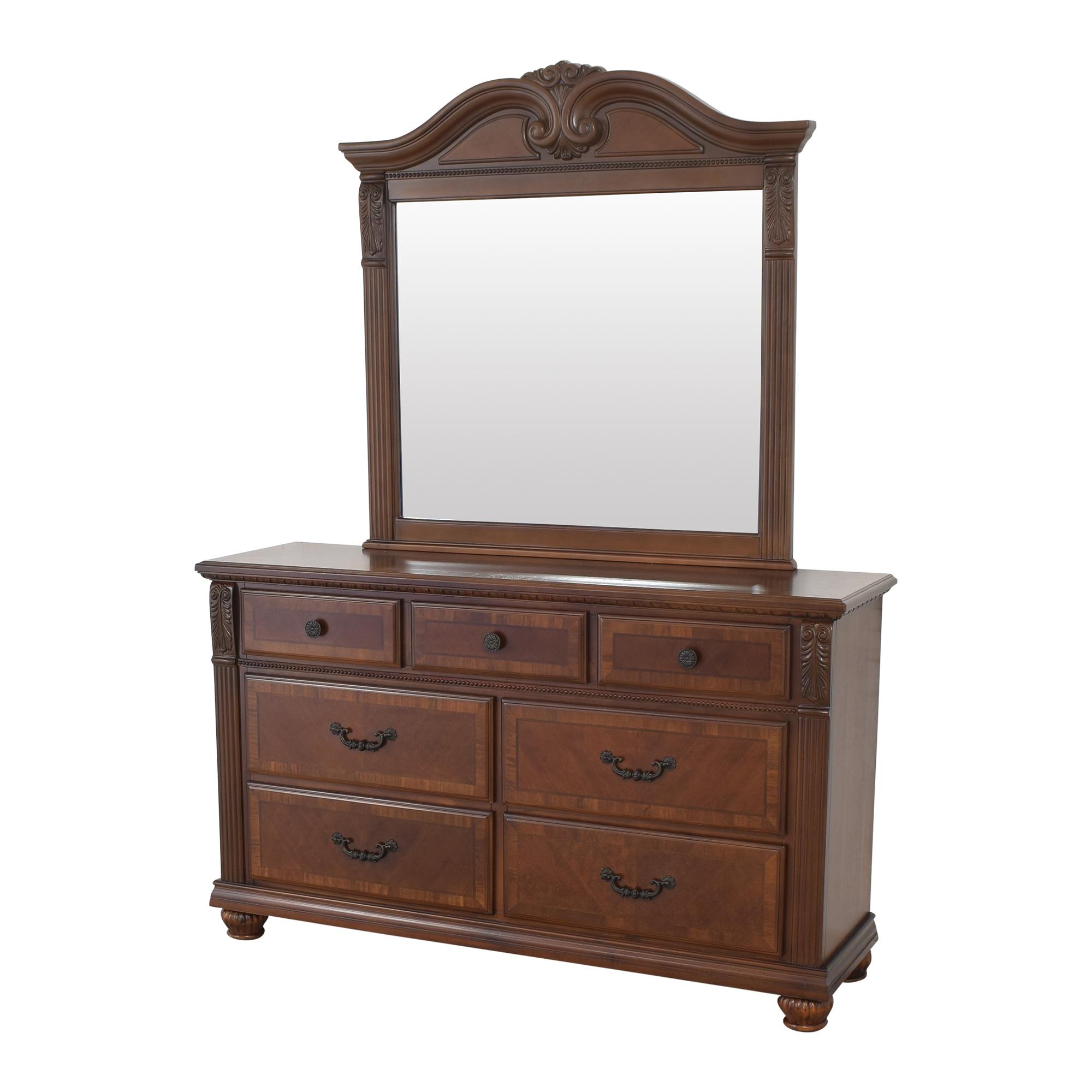 Raymour & Flanigan Raymour & Flanigan Ashbury Dresser with Mirror on sale