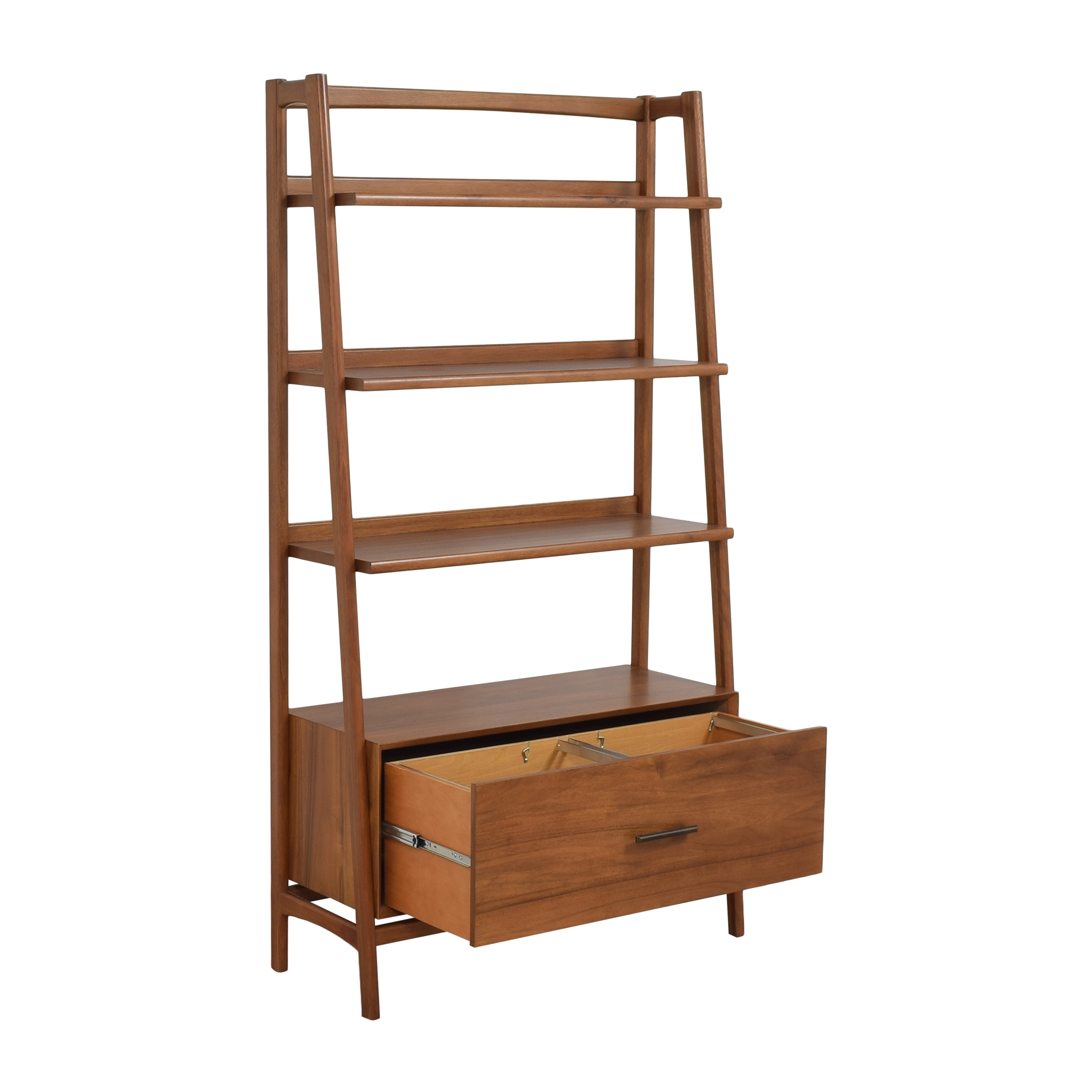 West Elm Mid-Century Bookshelf with Drawer / Bookcases & Shelving