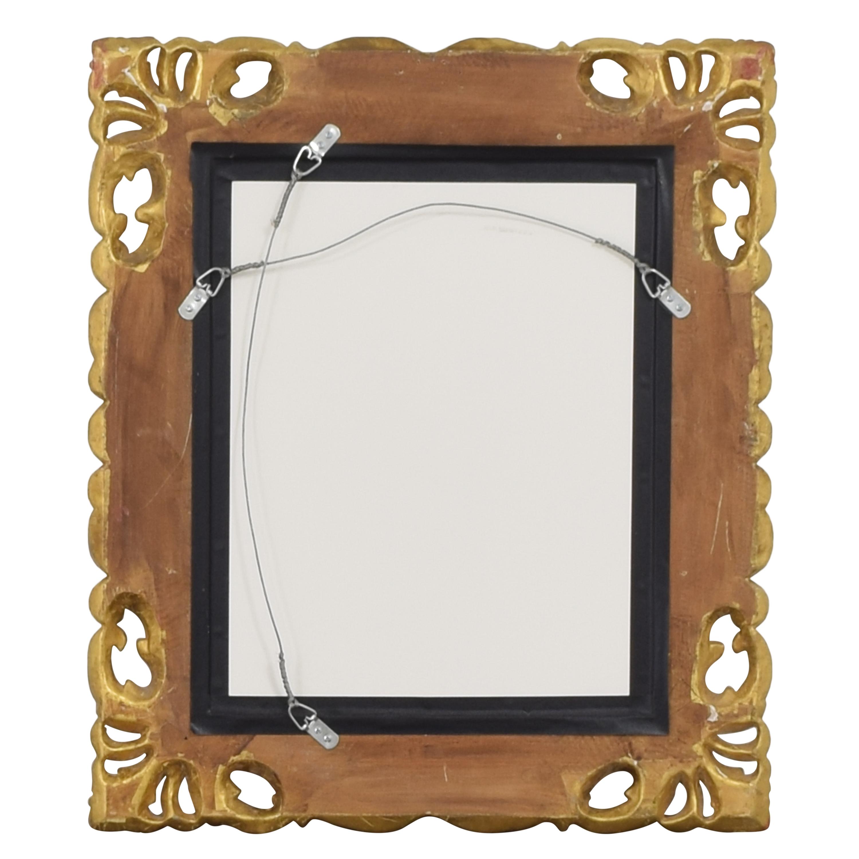 Ornate Framed Wall Mirror ct