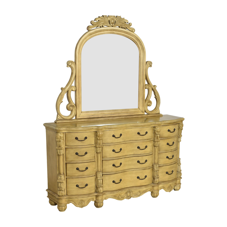 Twelve Drawer Triple Dresser with Mirror nj