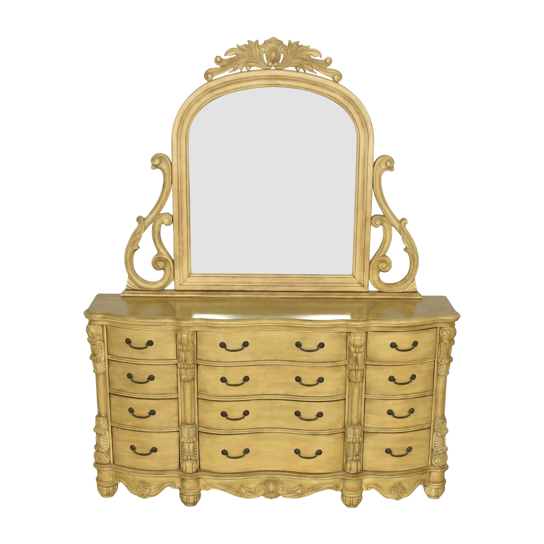 buy Twelve Drawer Triple Dresser with Mirror  Dressers