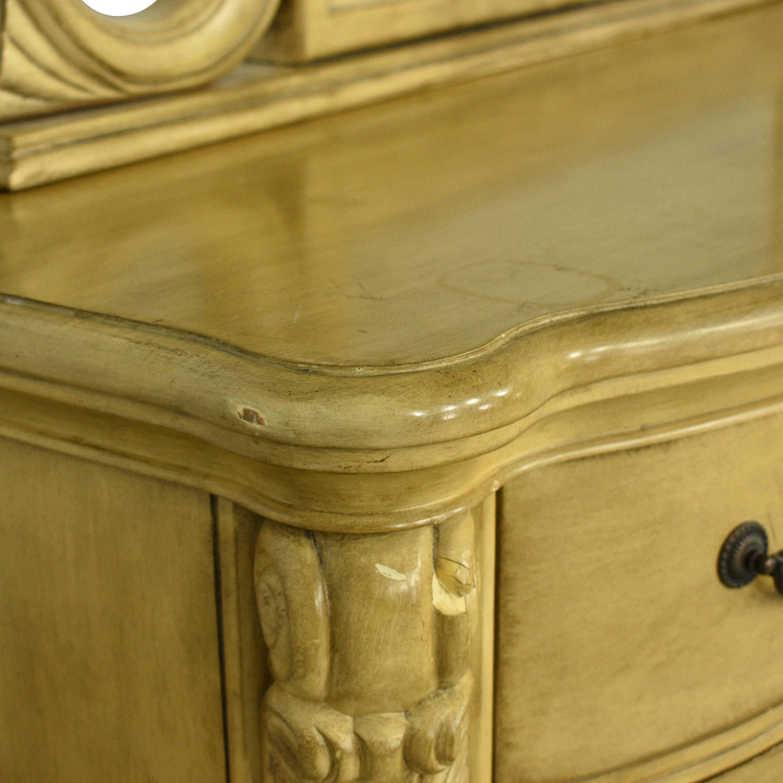 Twelve Drawer Triple Dresser with Mirror second hand