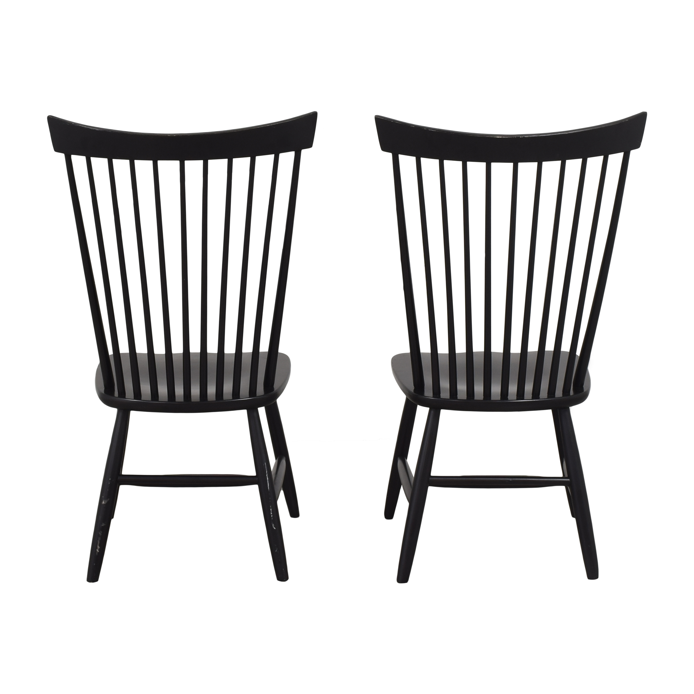 Crate & Barrel Crate & Barrel Marlow II Dining Chairs black