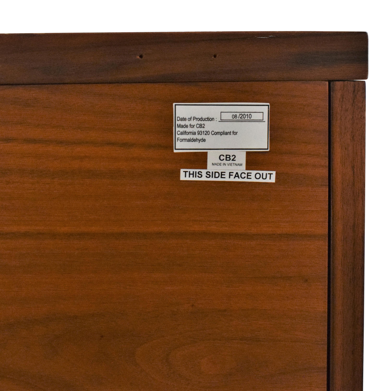 CB2 CB2 Modern Media Cabinet Storage