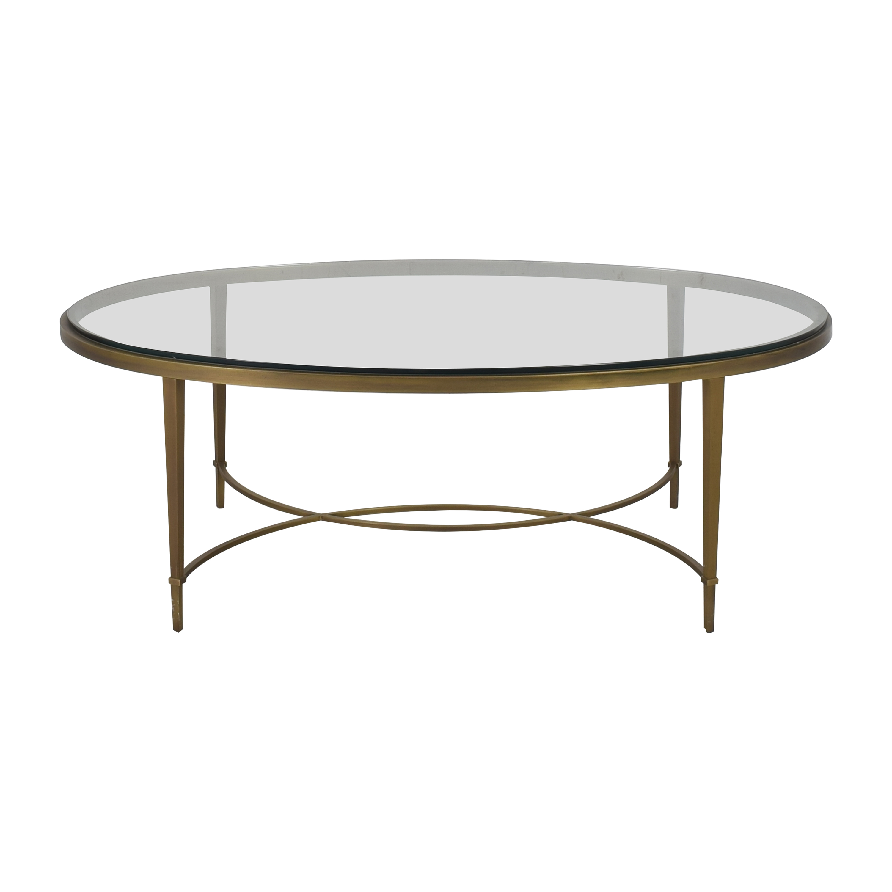 Baker Furniture Baker Furniture by Thomas Pheasant Chloe Oval Cocktail Table
