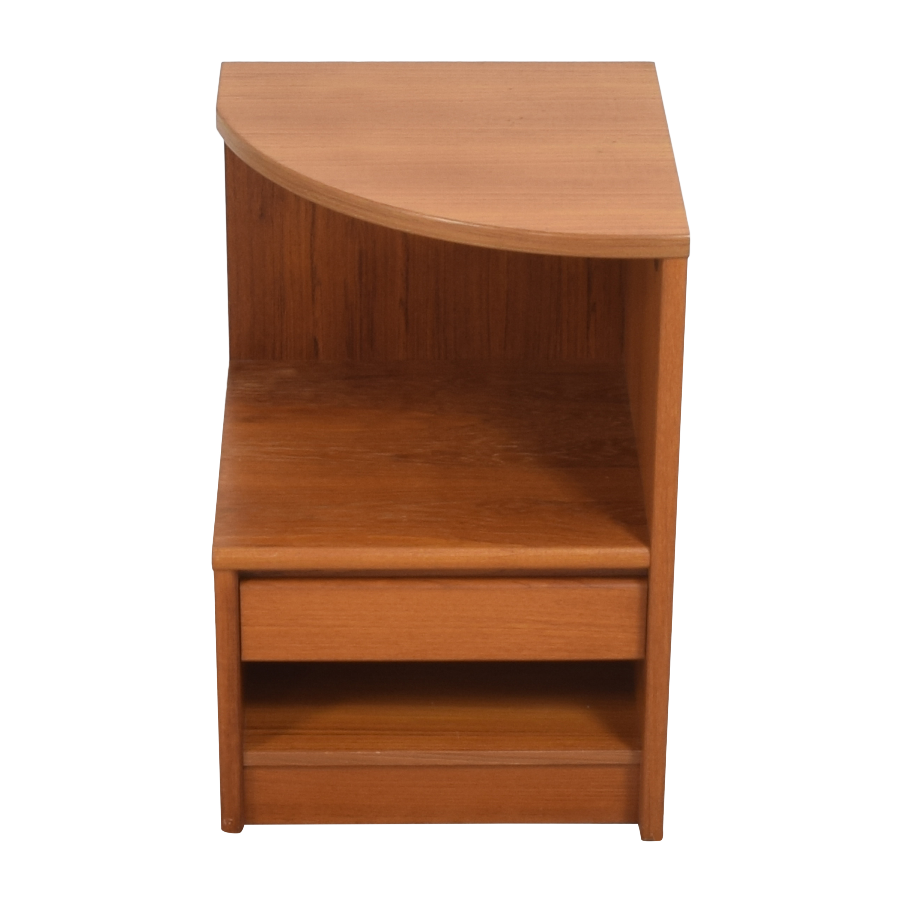 Danish Curved Nightstand Tables