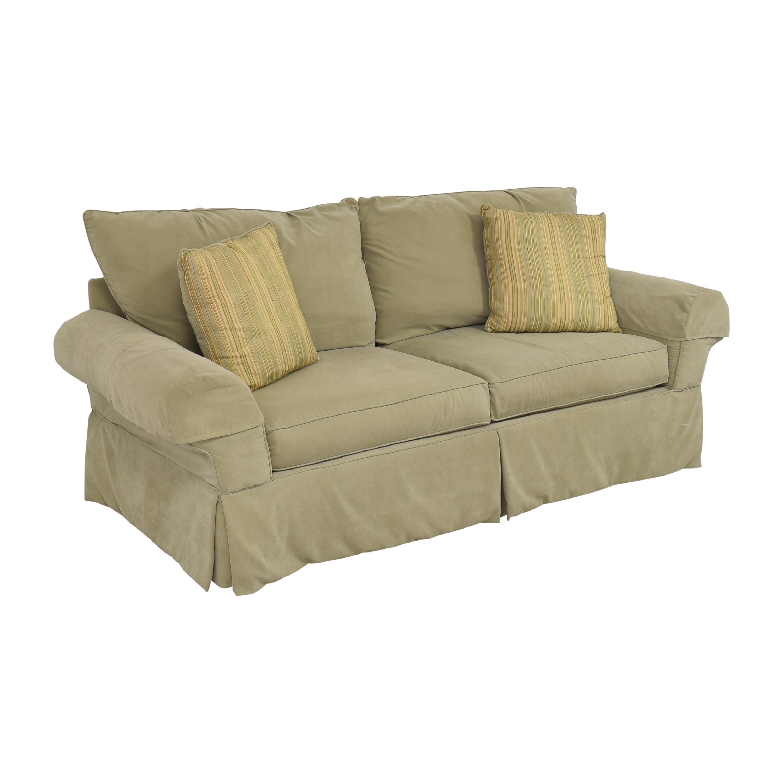 shop Clayton Marcus Skirted Two Cushion Sofa Clayton Marcus Classic Sofas
