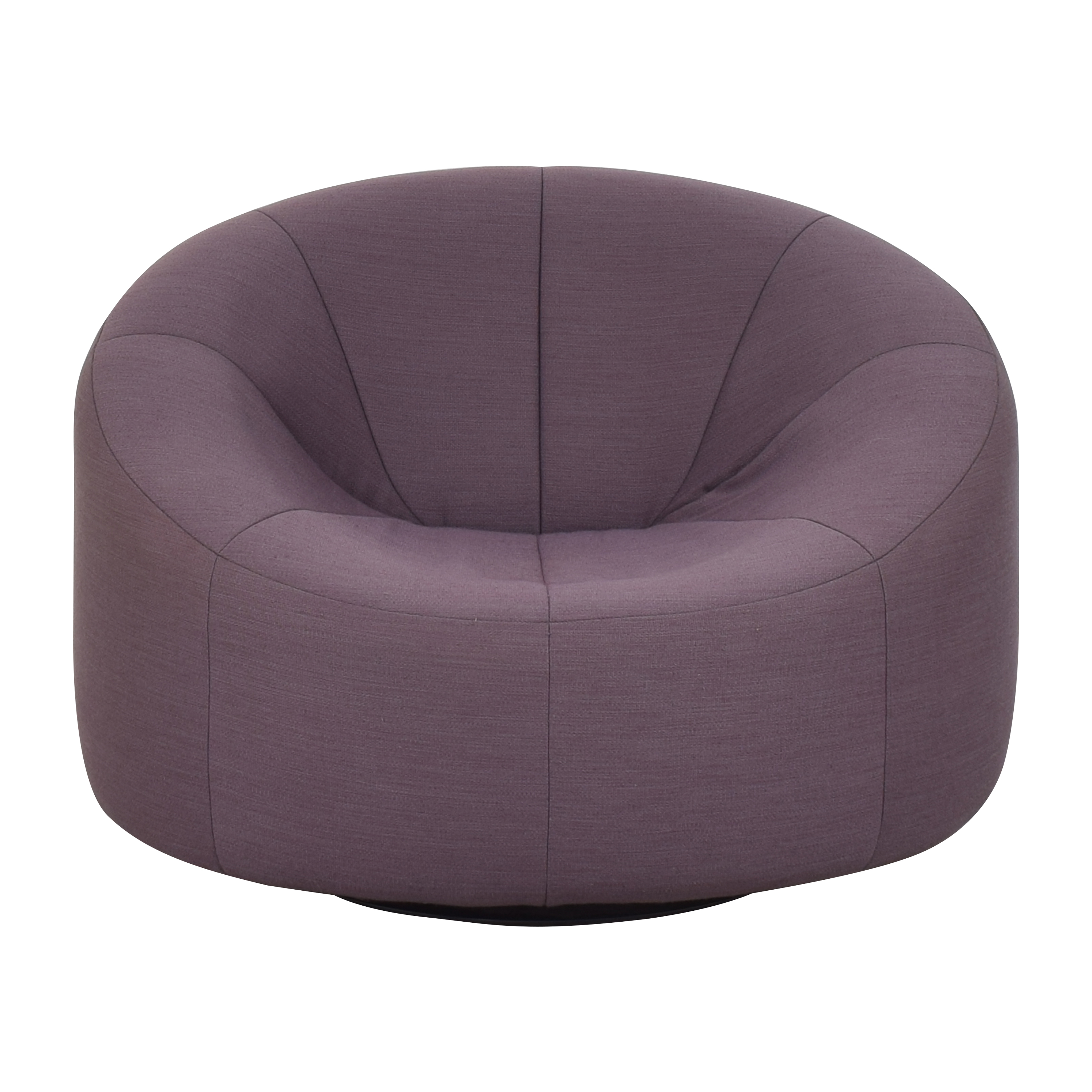 shop Ligne Roset by Pierre Paulin Pumpkin Swivelling Arm Chair with Ottoman Ligne Roset Accent Chairs