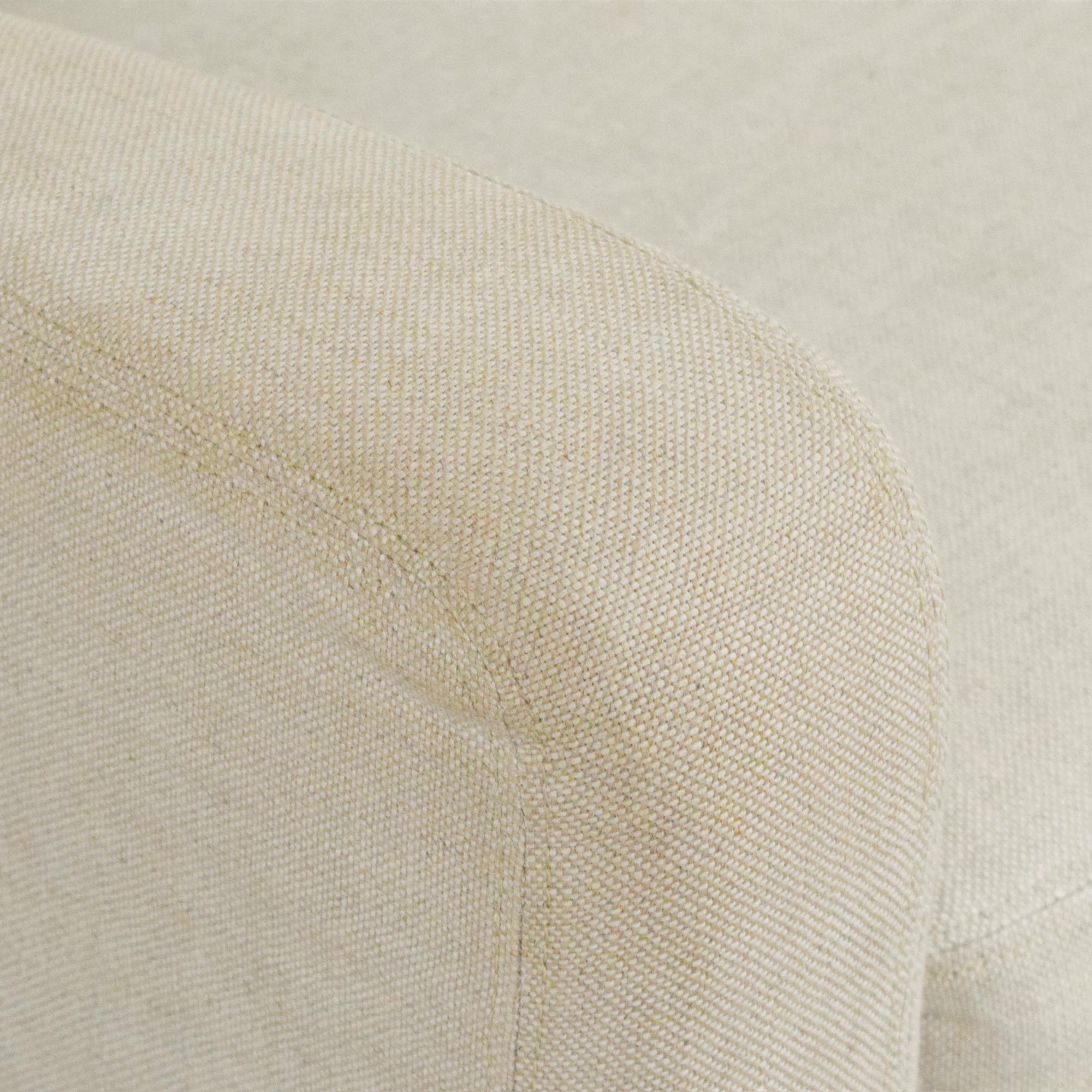 Restoration Hardware Restoration Hardware Belgian Slope Arm Slipcover Sofa discount