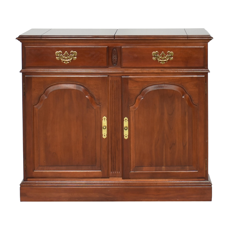 shop Ethan Allen Georgian Court Flip Top Server Buffet Ethan Allen Cabinets & Sideboards