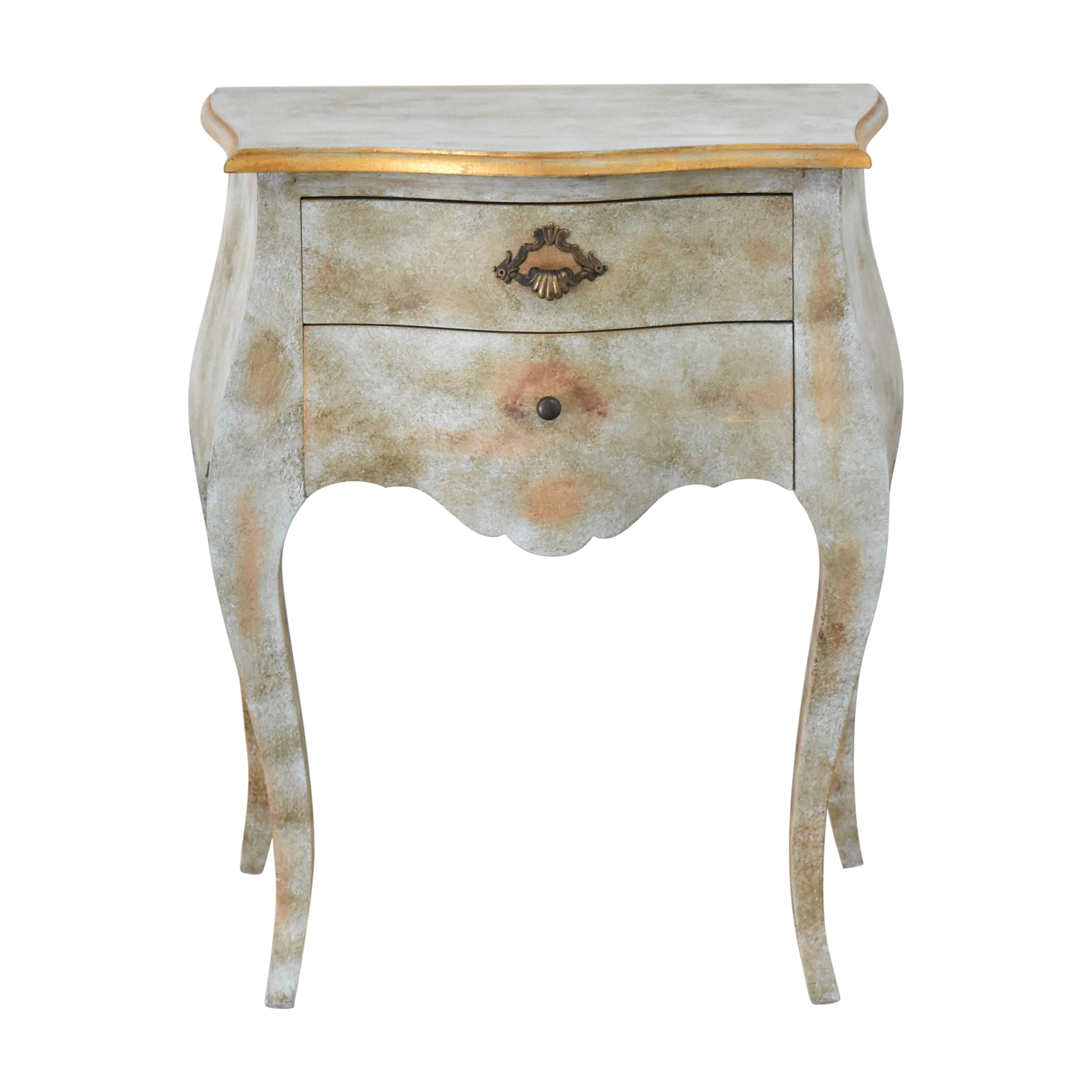 shop Italian-Style Two Drawer Painted Side Table  Tables