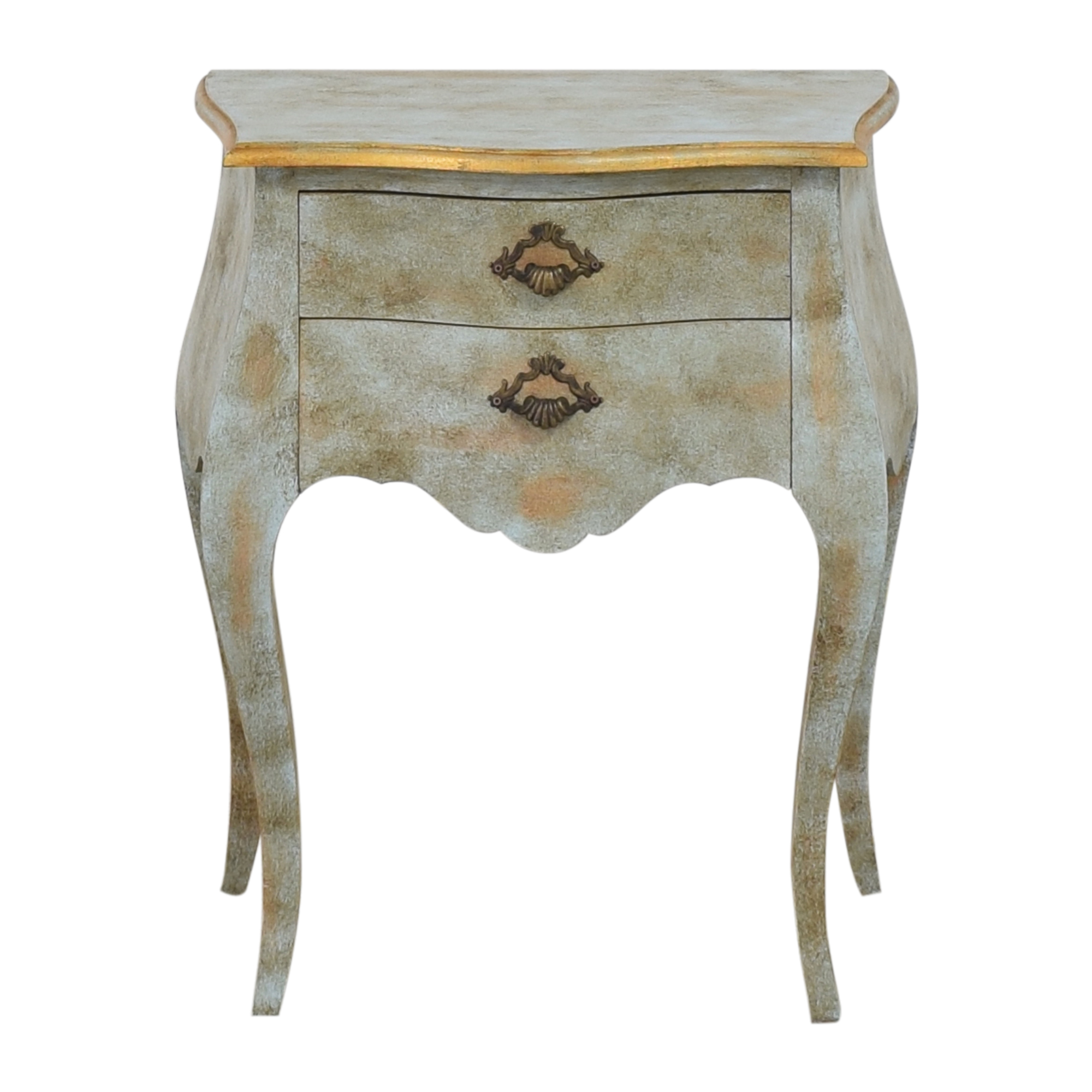 Distressed Two Drawer Side Table sale